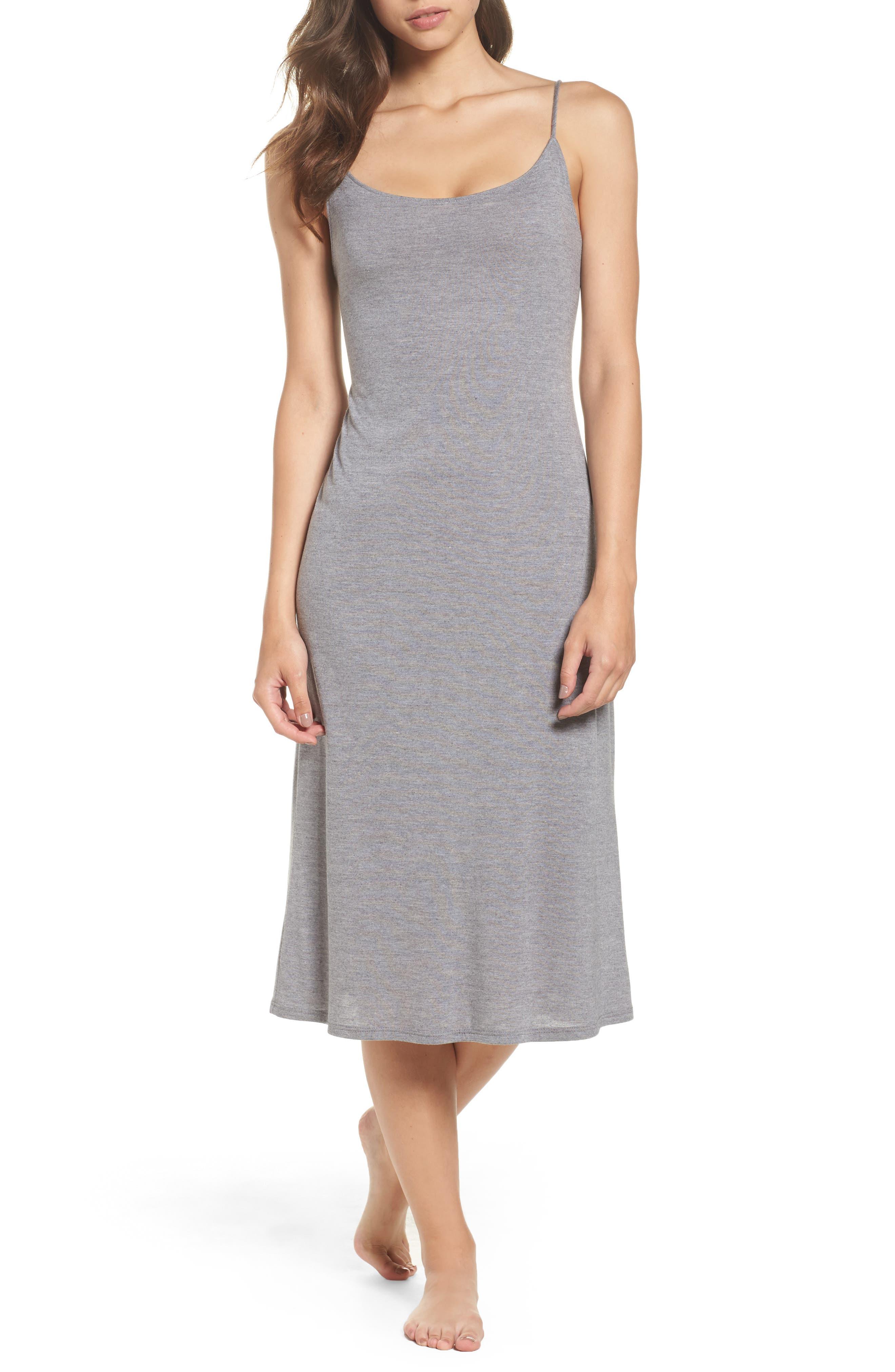 Natori Shangri La Nightgown, Grey