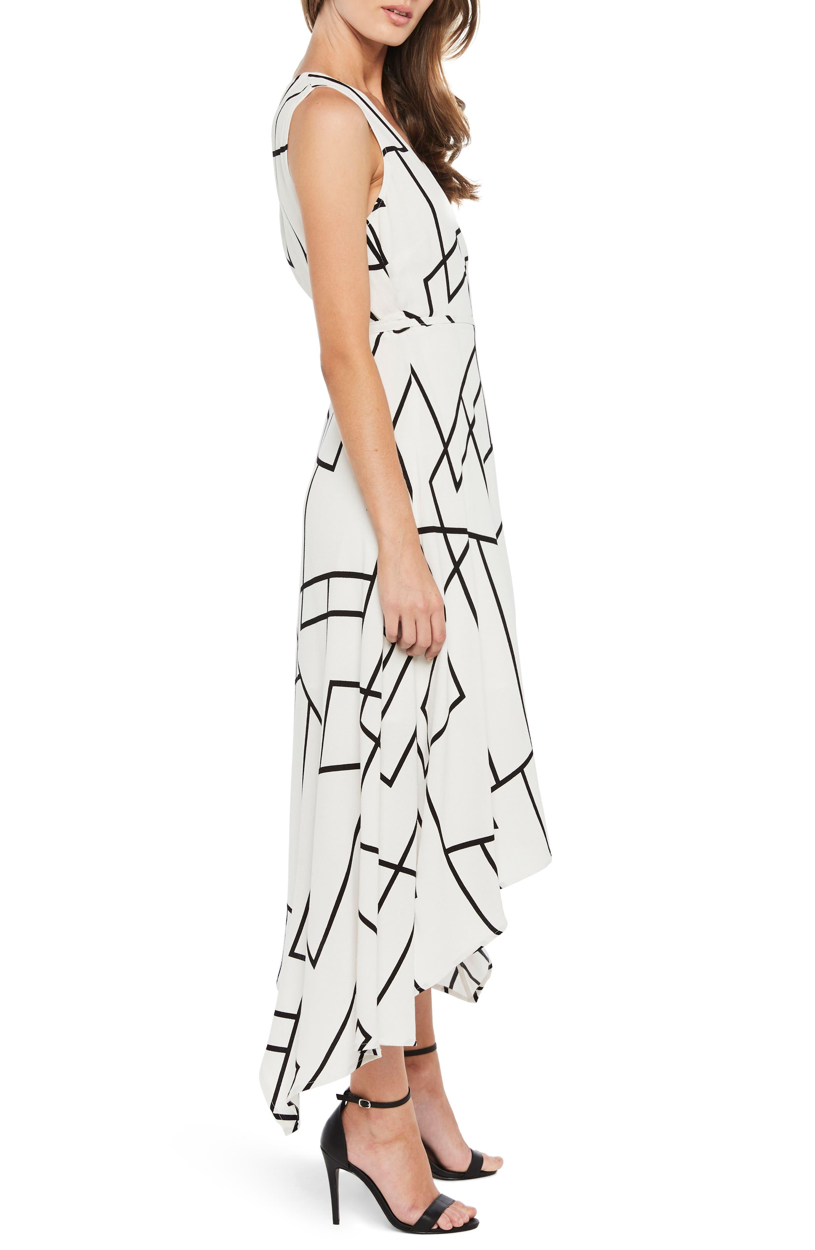 Asymmetrical Wrap Dress,                             Alternate thumbnail 3, color,                             100