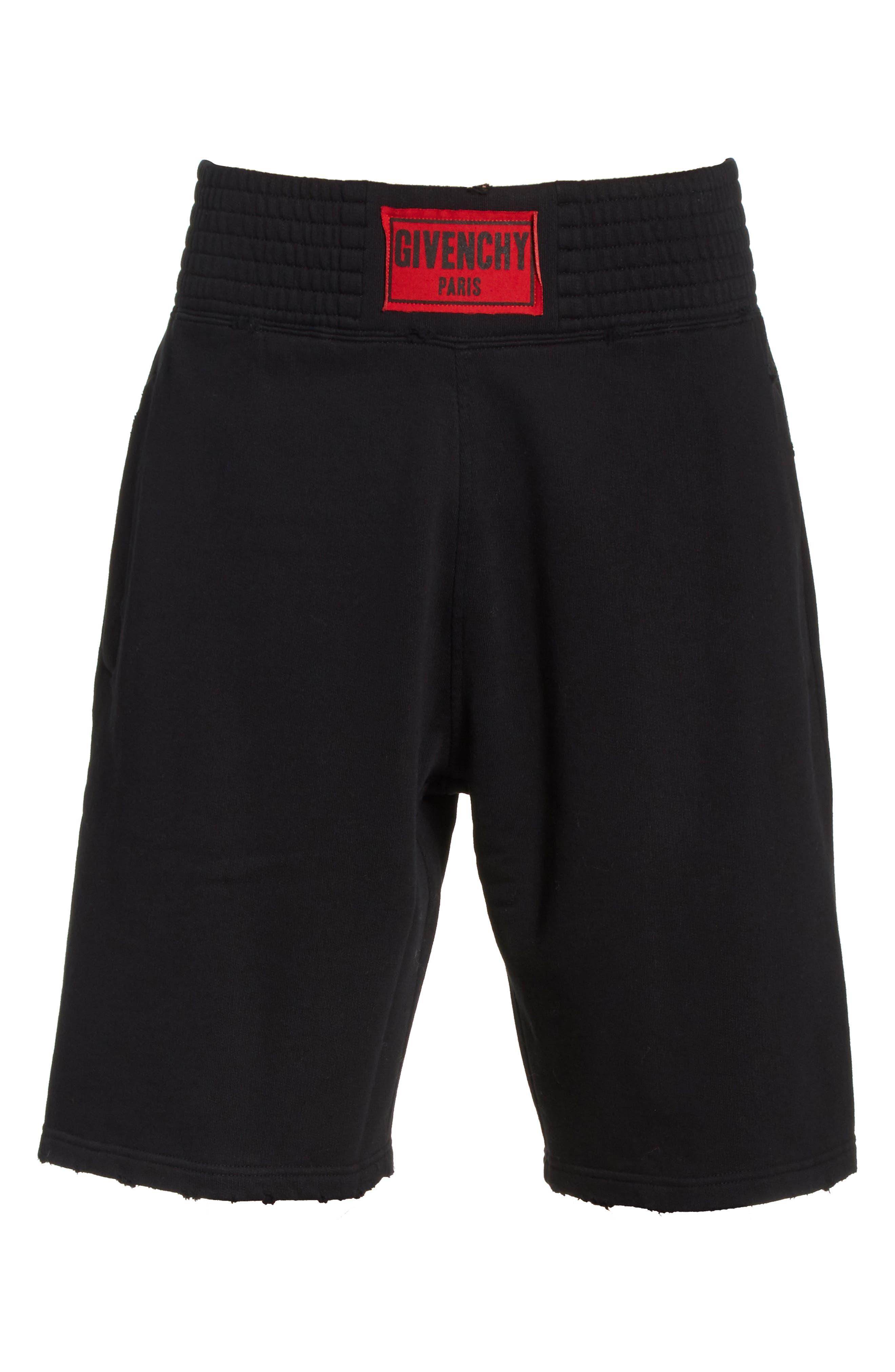 Knit Boxing Shorts,                             Alternate thumbnail 6, color,                             001