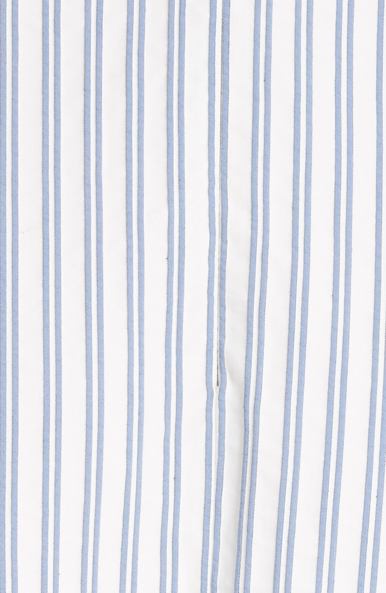 Stripe Shirting Apron Day Dress,                             Alternate thumbnail 5, color,                             453