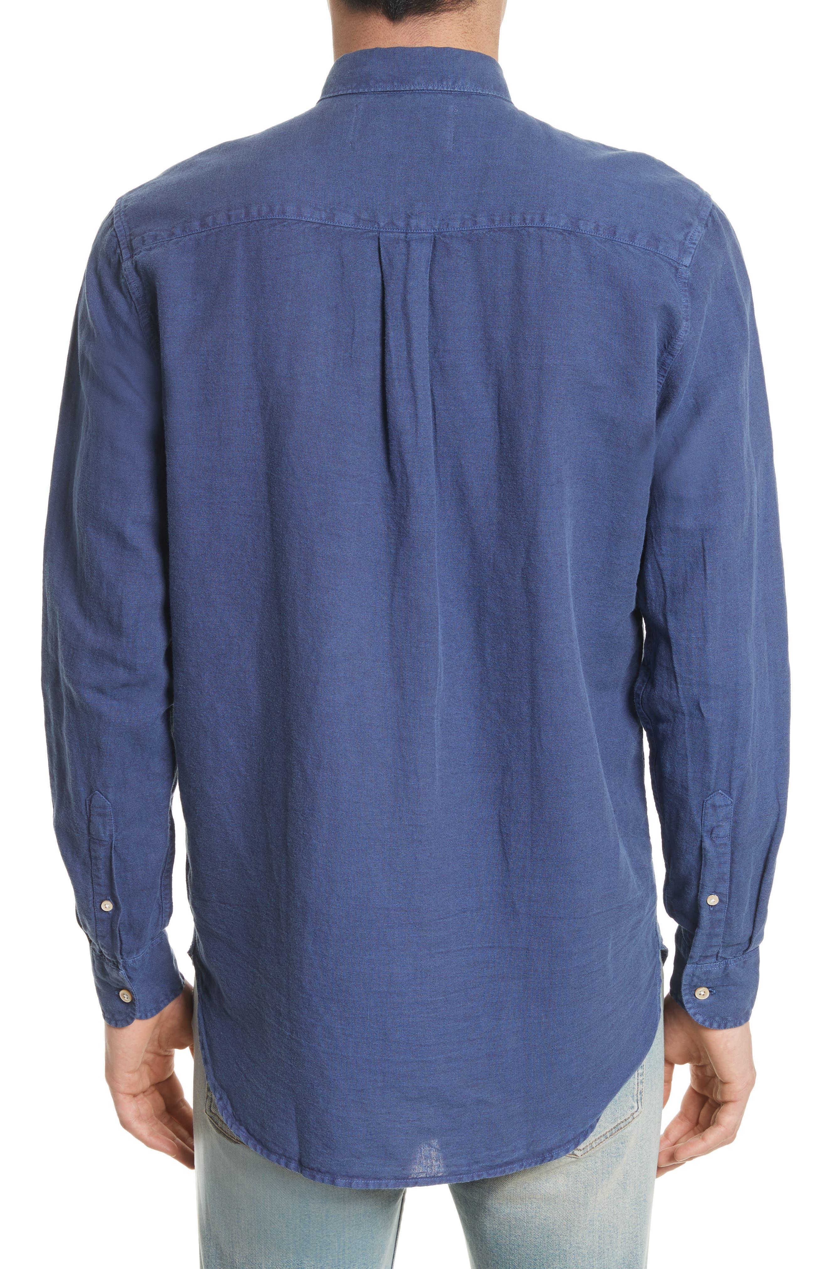 Generation Linen & Cotton Sport Shirt,                             Alternate thumbnail 3, color,                             450