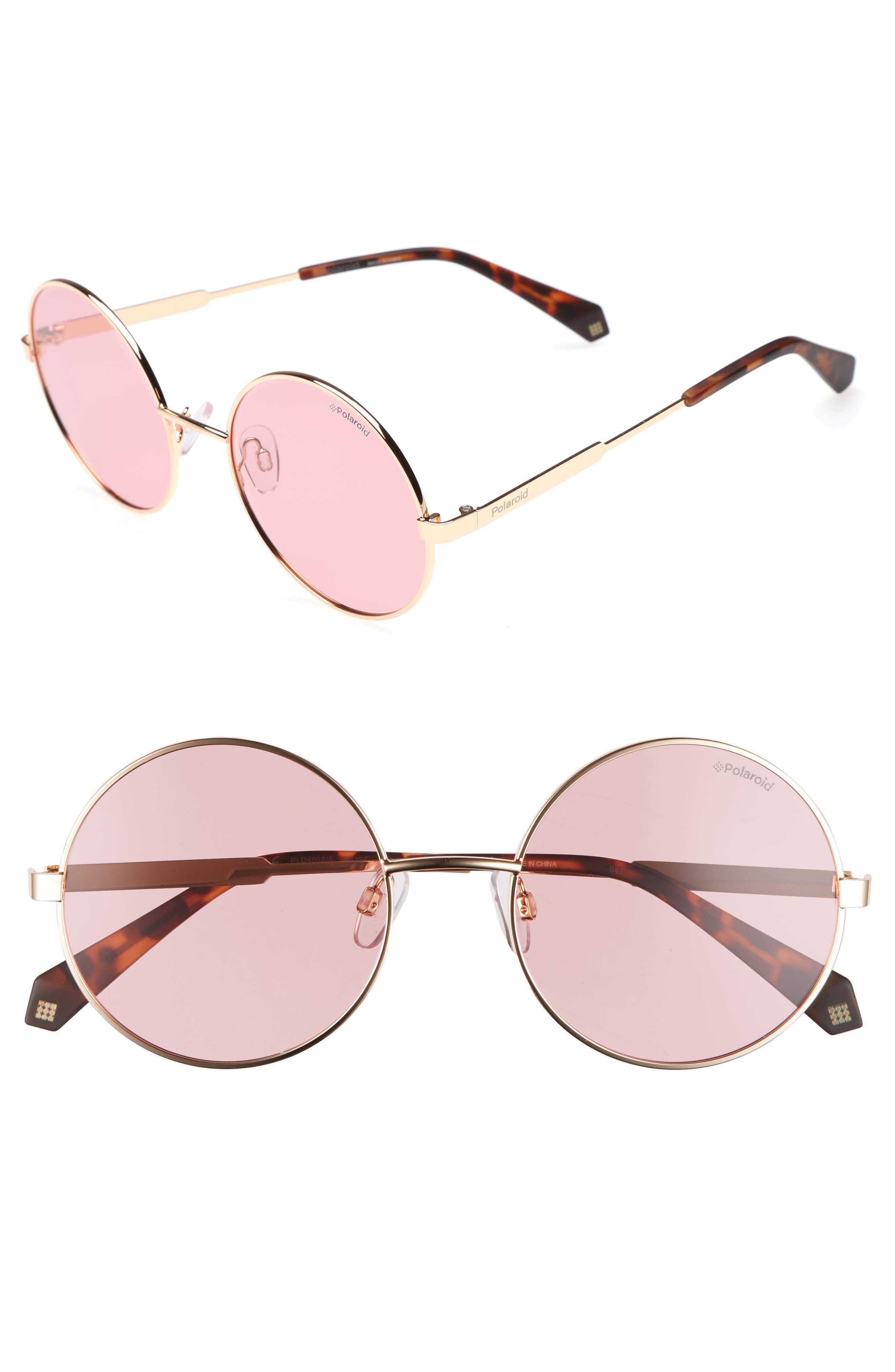 55mm Polarized Round Sunglasses,                             Main thumbnail 3, color,