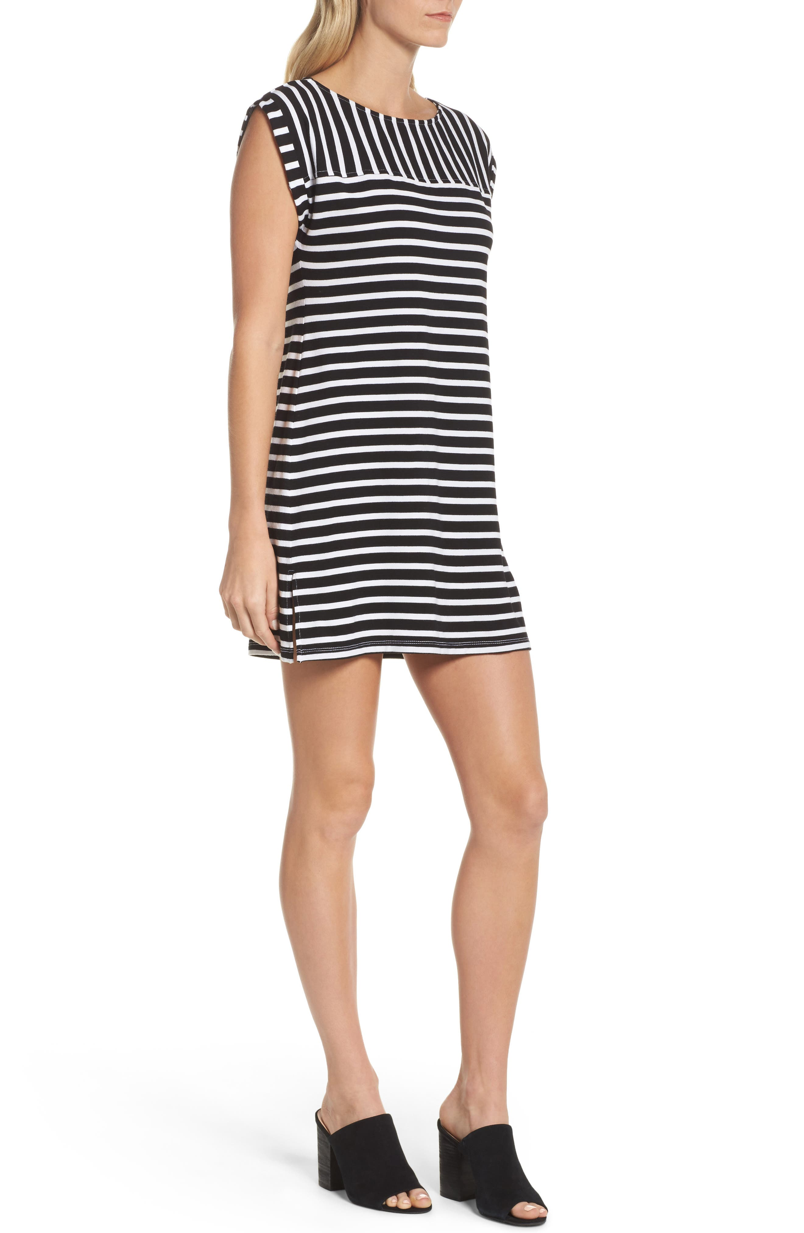 Breton Stripe Cover-Up Dress,                             Alternate thumbnail 3, color,