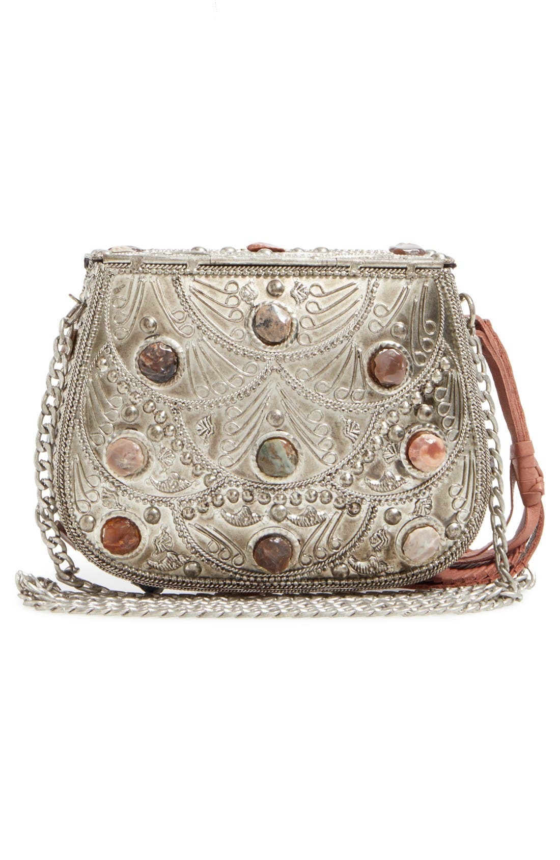 SAM EDELMAN,                             Mini Thana Metal Crossbody Bag,                             Alternate thumbnail 3, color,                             044