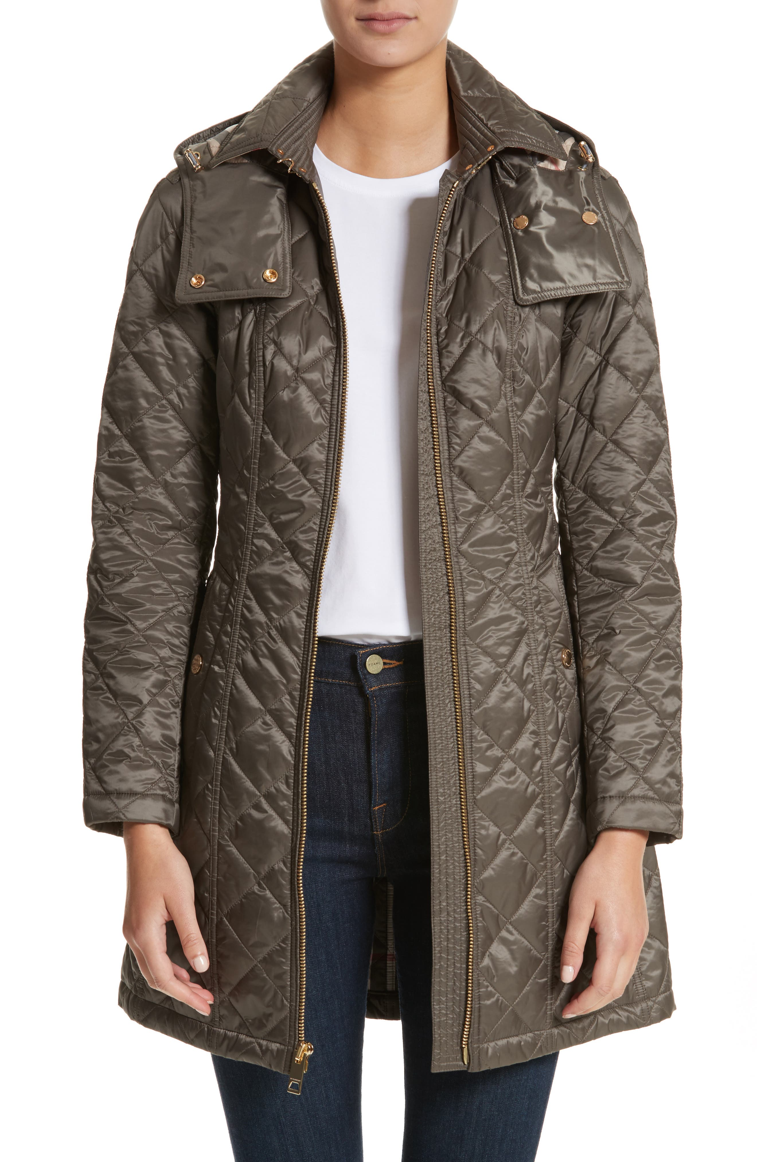 Baughton Quilted Coat,                             Main thumbnail 1, color,                             MINK GREY