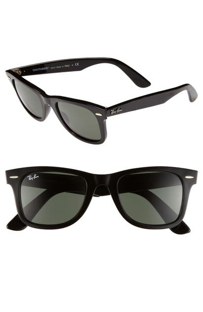 Ray Ban Sunglasses 'CLASSIC WAYFARER' 50MM SUNGLASSES - BLACK