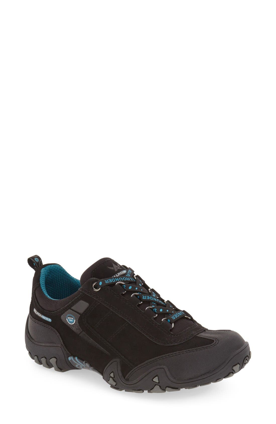 'Fina-Tex' Sneaker,                             Main thumbnail 1, color,                             BLACK SUEDE