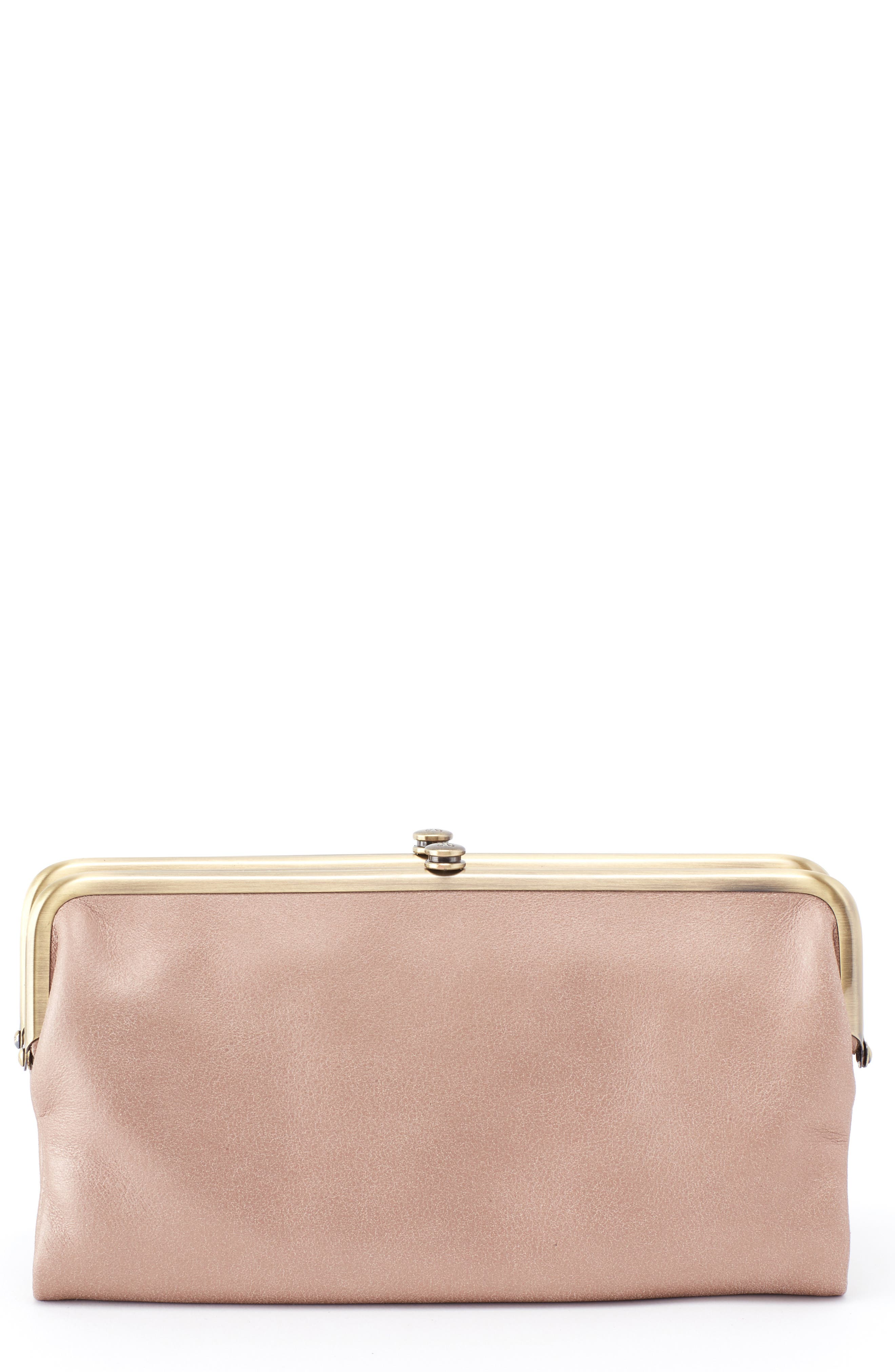 HOBO,                             Lauren Double Frame Clutch,                             Main thumbnail 1, color,                             TWILIGHT