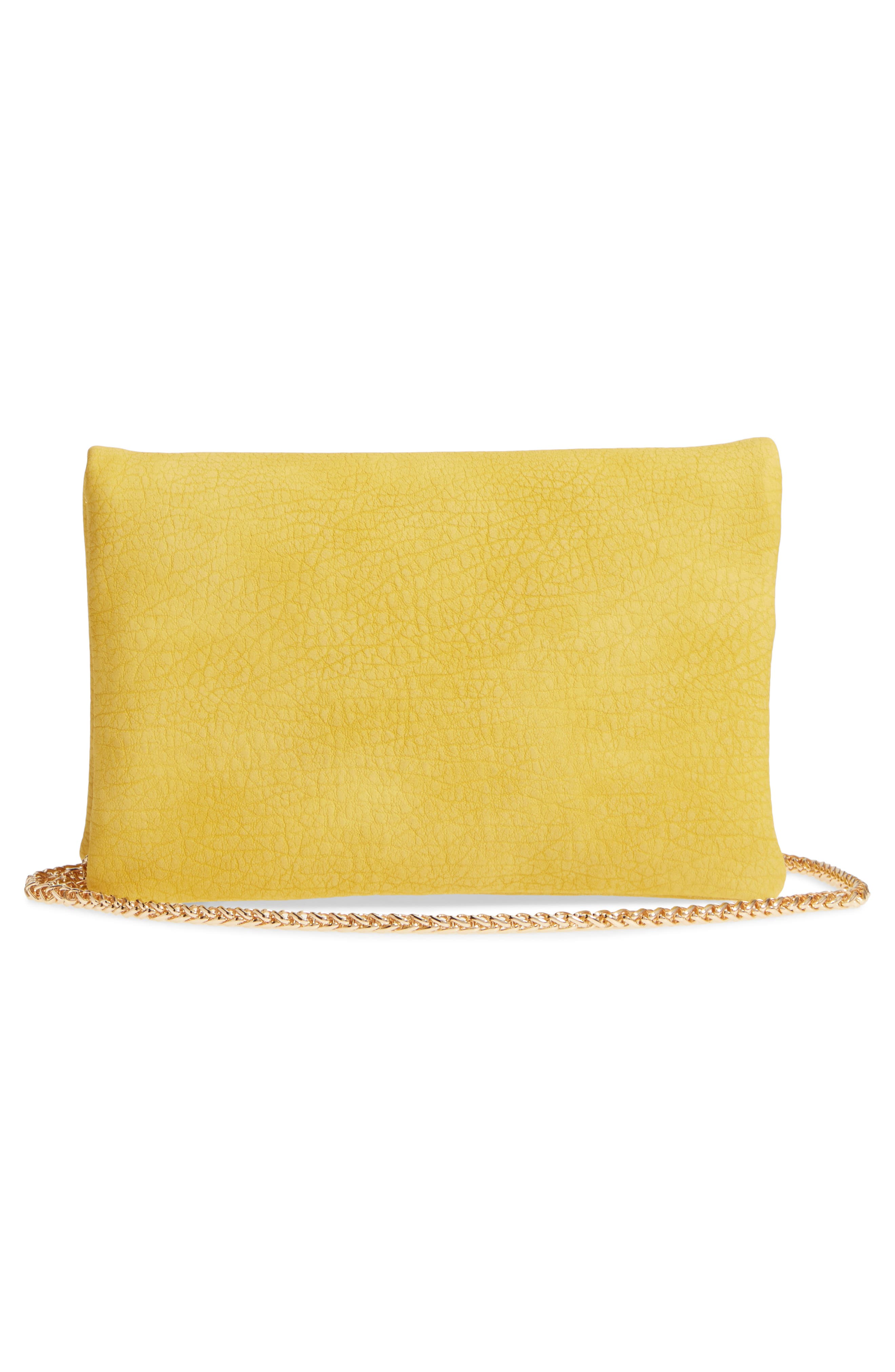 Studded Faux Leather Clutch,                             Alternate thumbnail 6, color,
