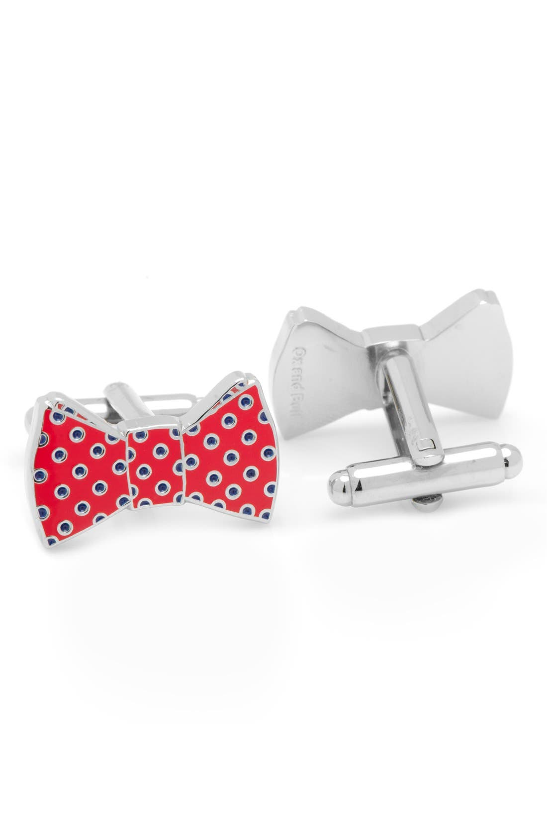 Bow Tie Cuff Links, Main, color, 040