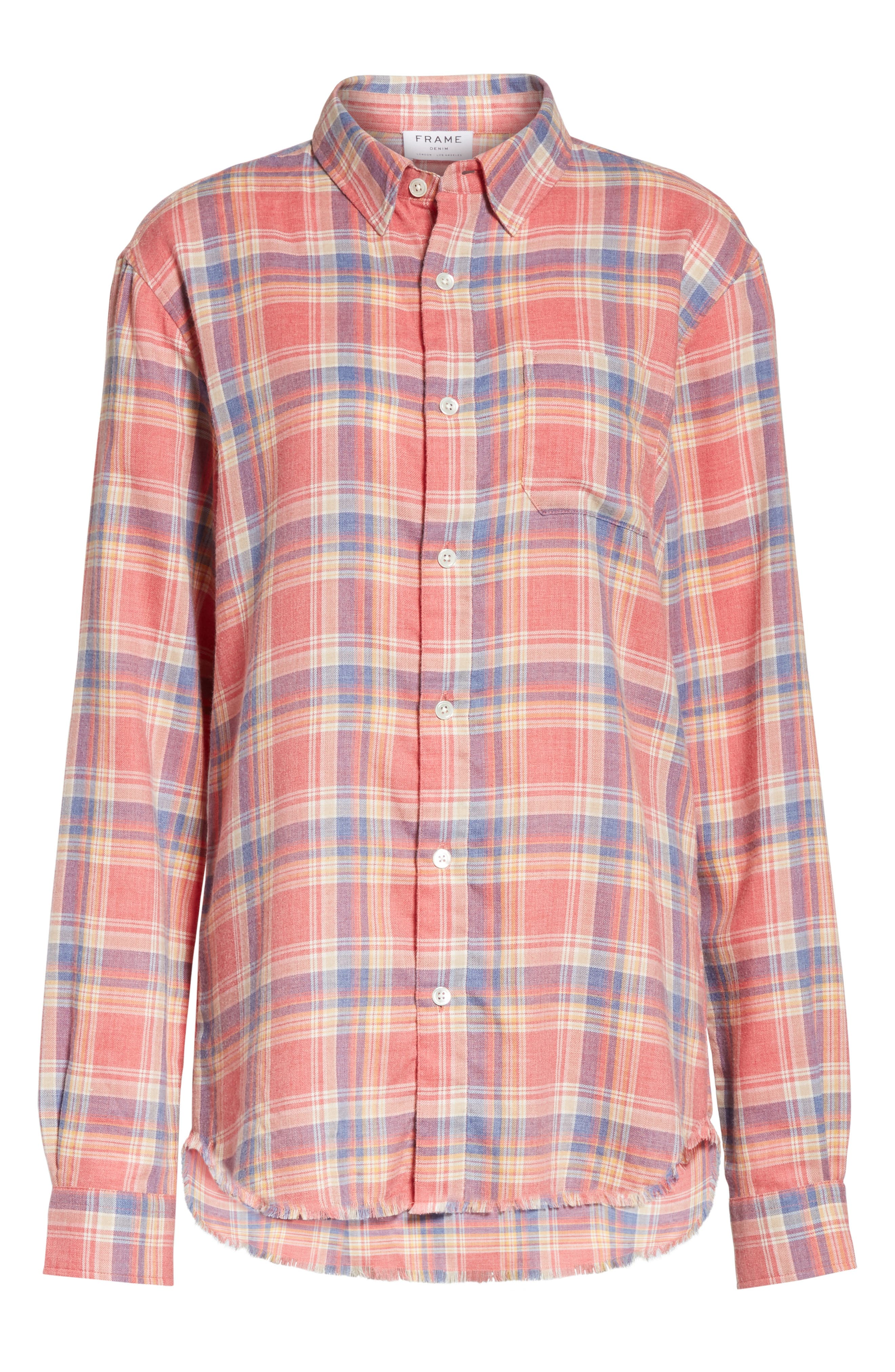 True Plaid Shirt,                             Alternate thumbnail 6, color,                             601