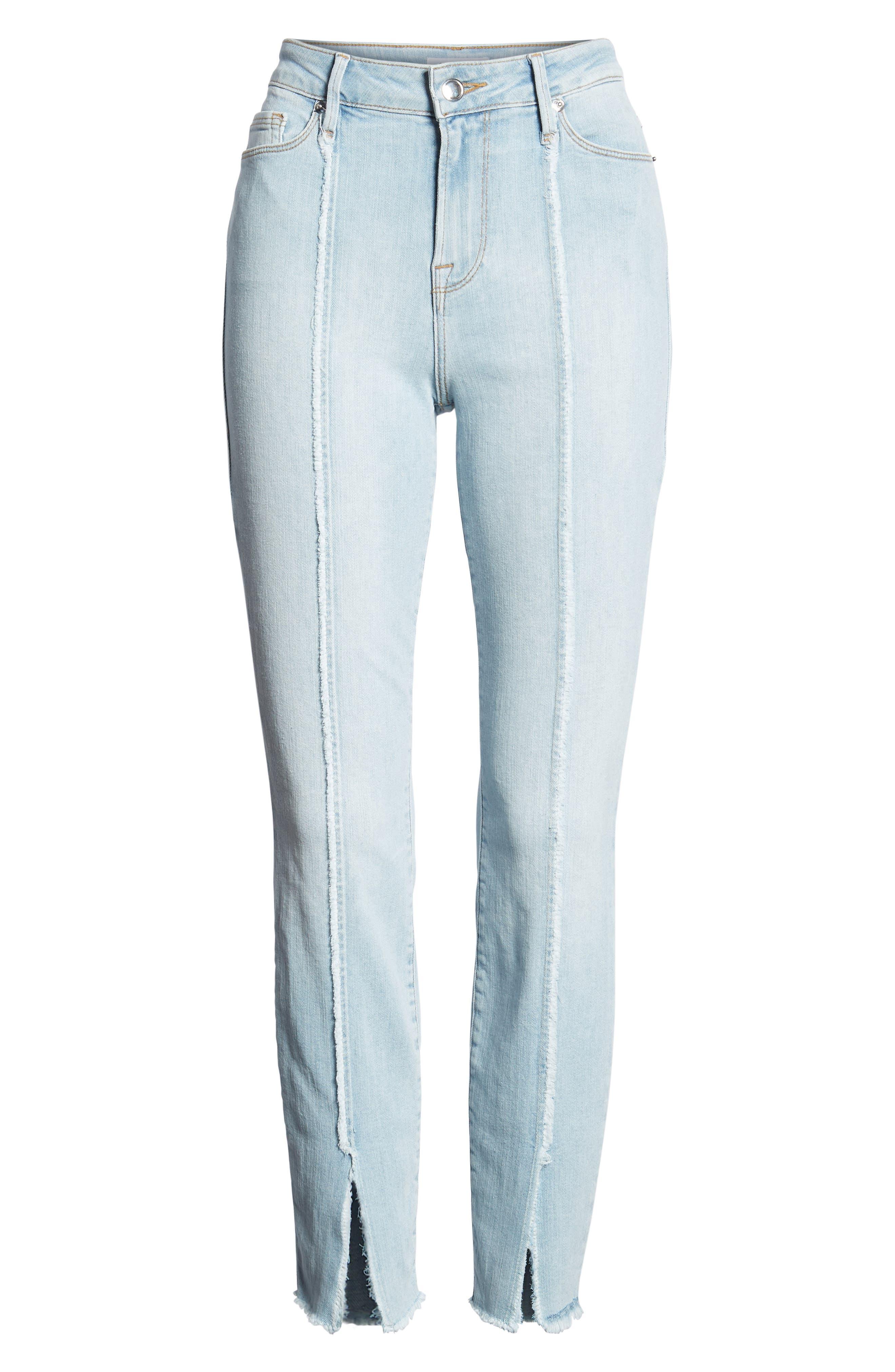 Good Legs High Waist Raw Seam Crop Skinny Jeans,                             Alternate thumbnail 7, color,
