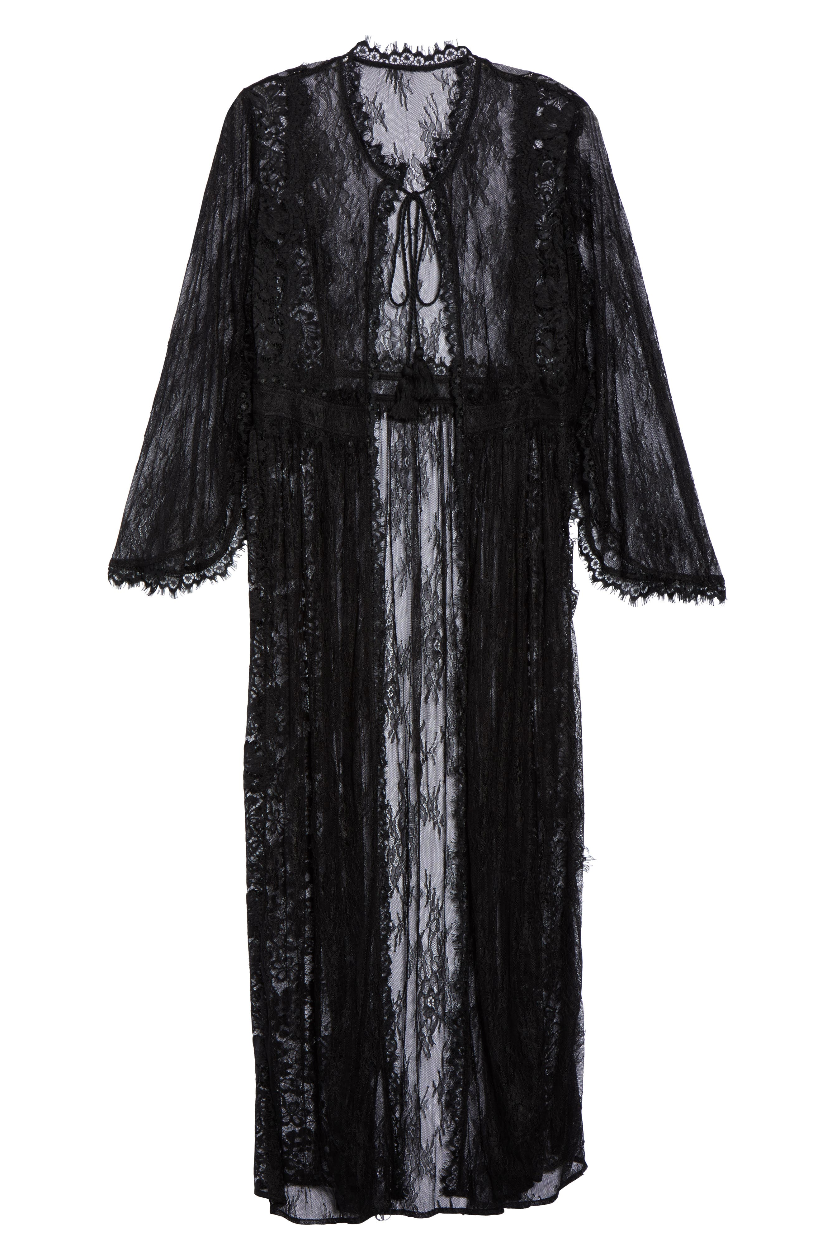 Intimately FP Chelsea Lace Robe,                             Alternate thumbnail 6, color,                             001