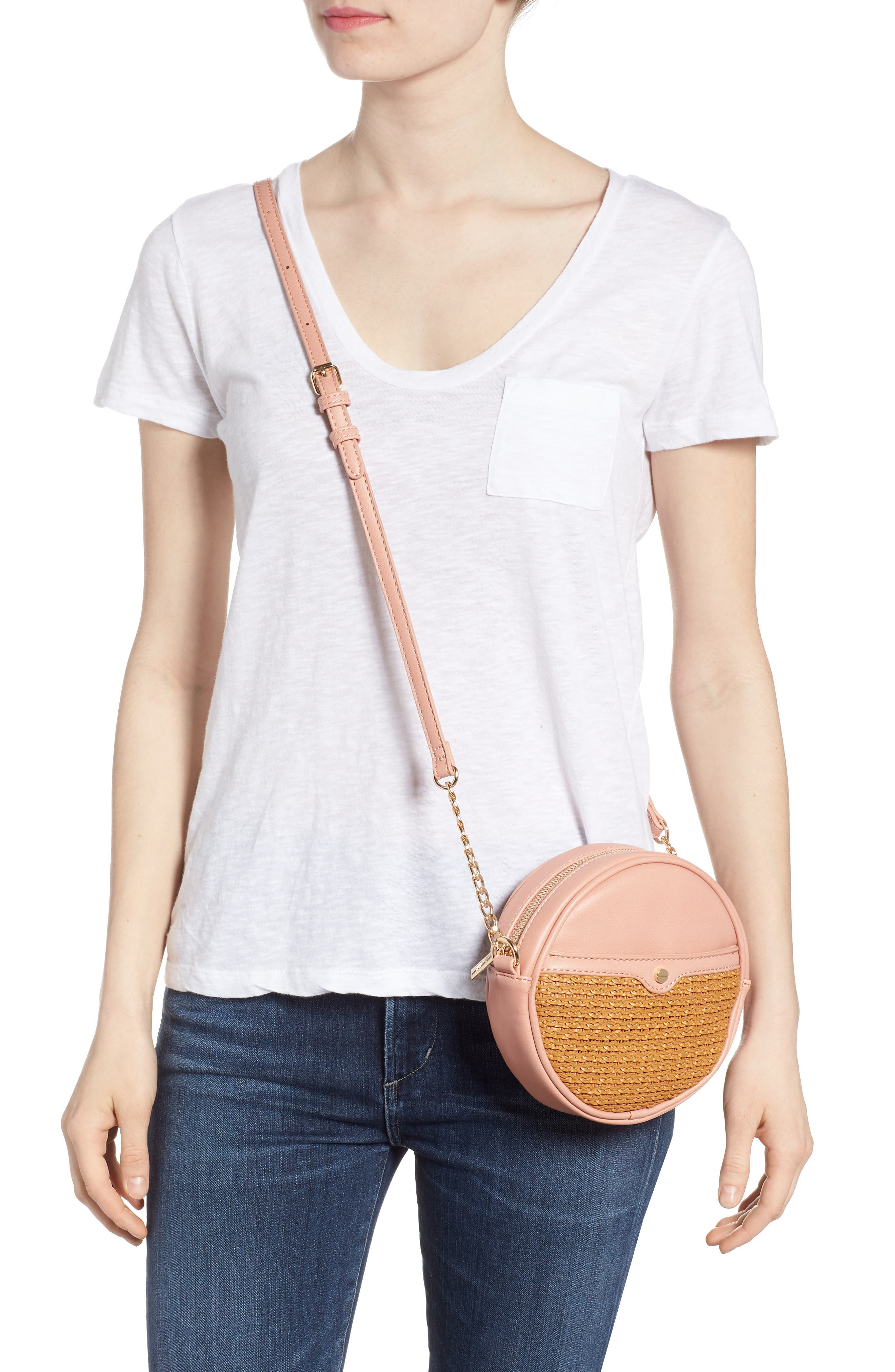 Mali + Lili Basket Weave Vegan Leather Canteen Crossbody Bag,                             Alternate thumbnail 2, color,                             200