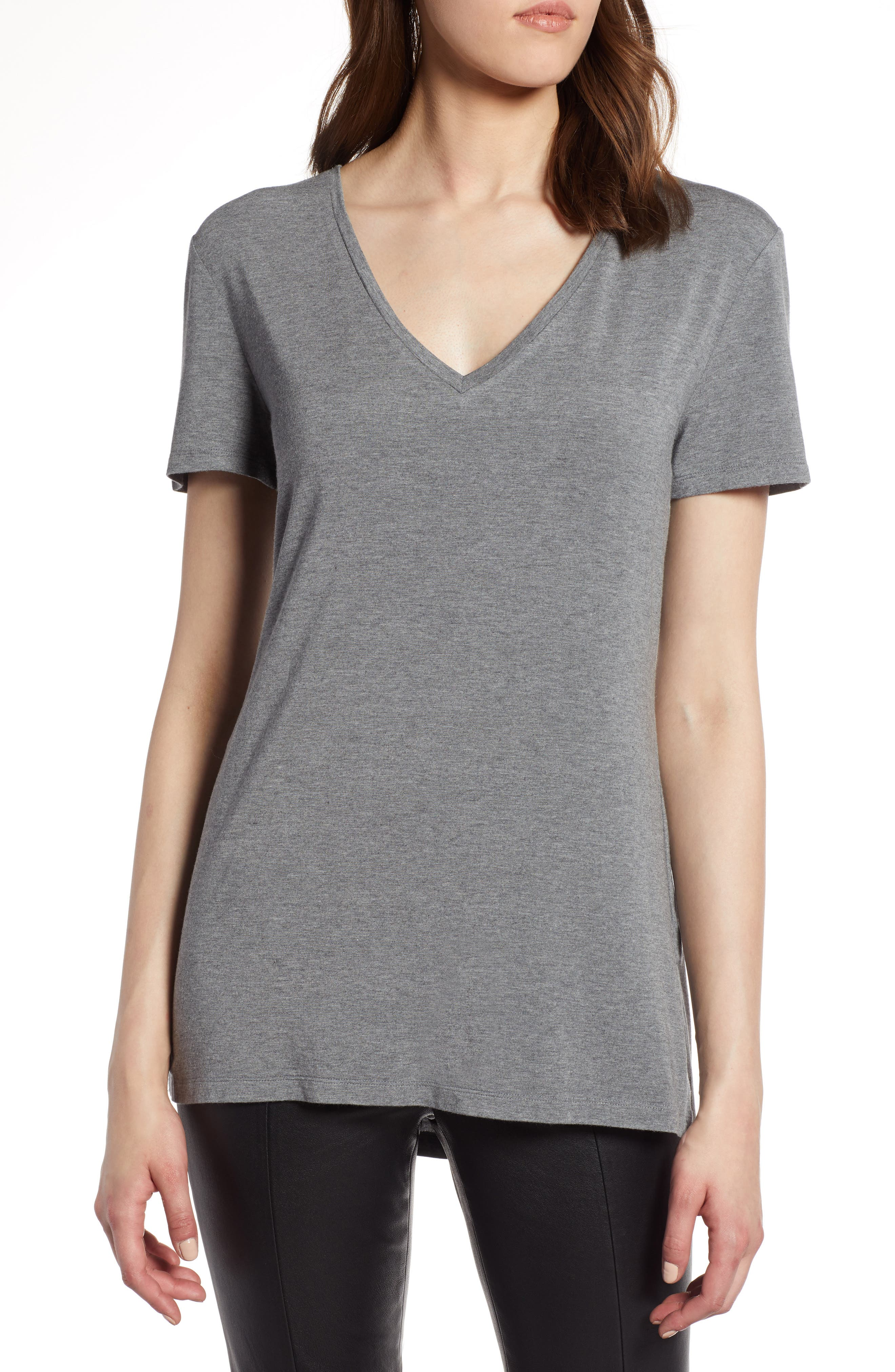V-Neck Tunic Tee,                             Main thumbnail 2, color,