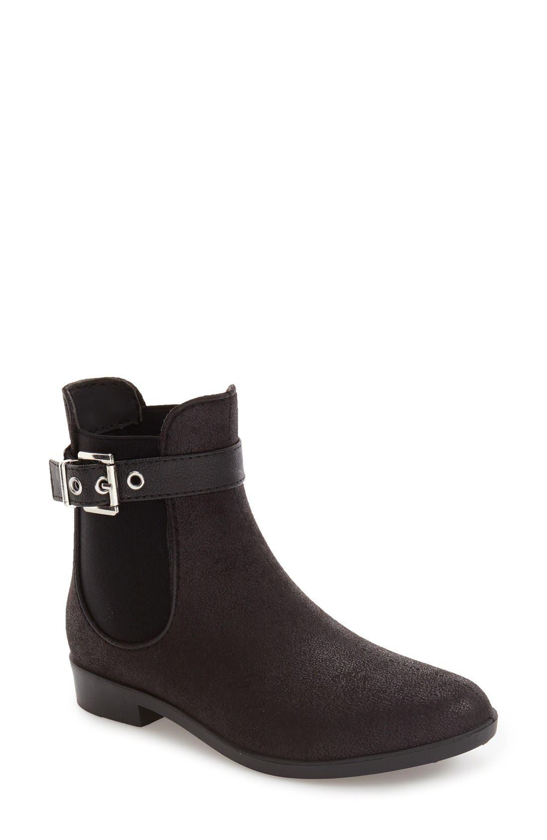 DÄV 'Glasgow' Water Resistant Chelsea Boot, Main, color, BLACK