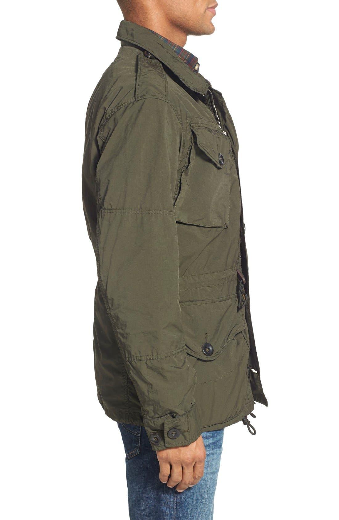 Twill Combat Military Jacket,                             Alternate thumbnail 4, color,                             300
