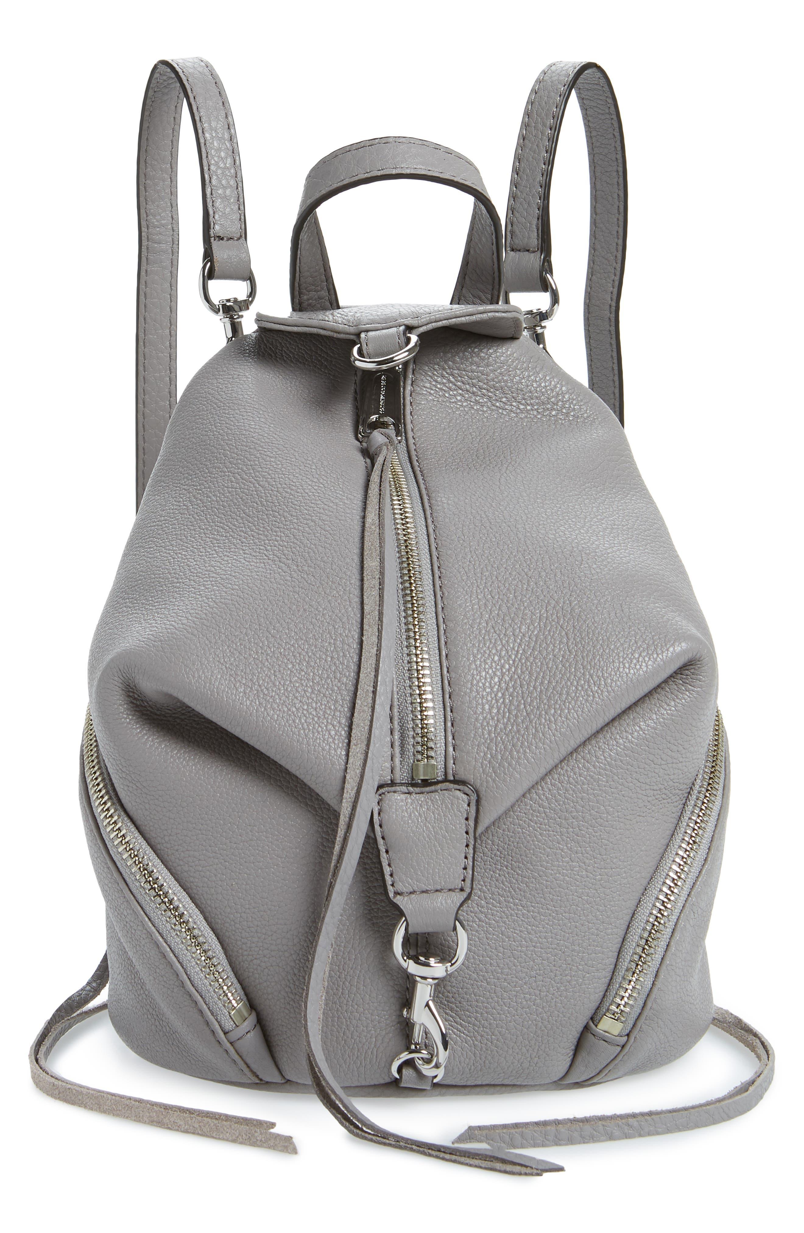 Mini Julian Pebbled Leather Convertible Backpack,                             Main thumbnail 1, color,                             021