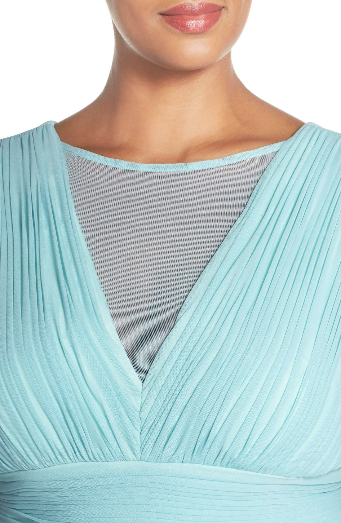 Illusion Neck A-Line Gown,                             Alternate thumbnail 24, color,