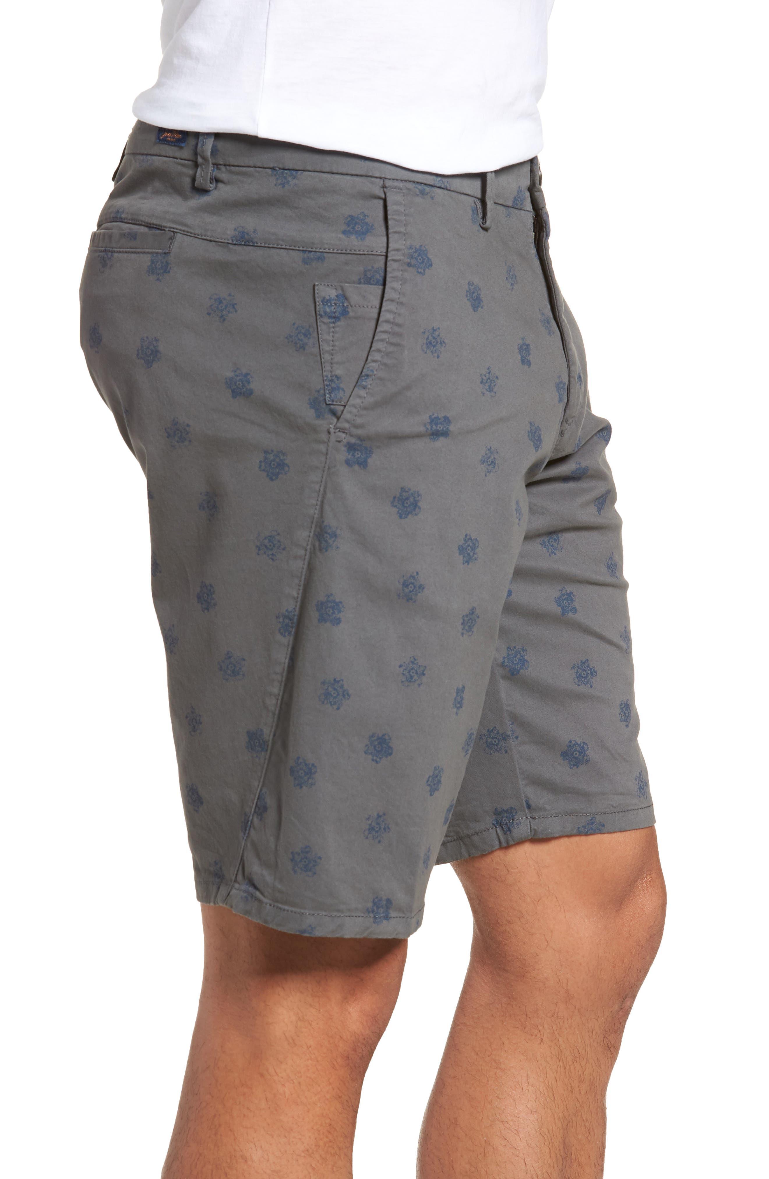 Monaco Floral Stretch Shorts,                             Alternate thumbnail 3, color,                             051