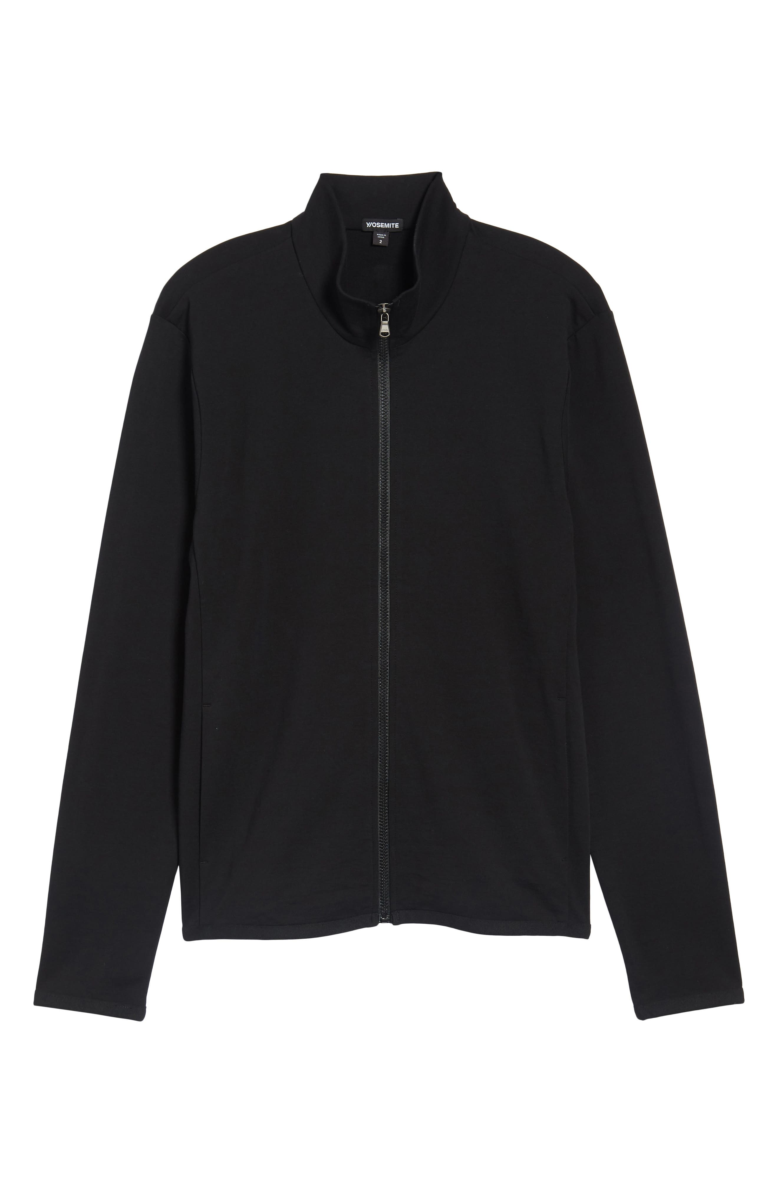 Slim Fit Compact Terry Zip Jacket,                             Alternate thumbnail 11, color,