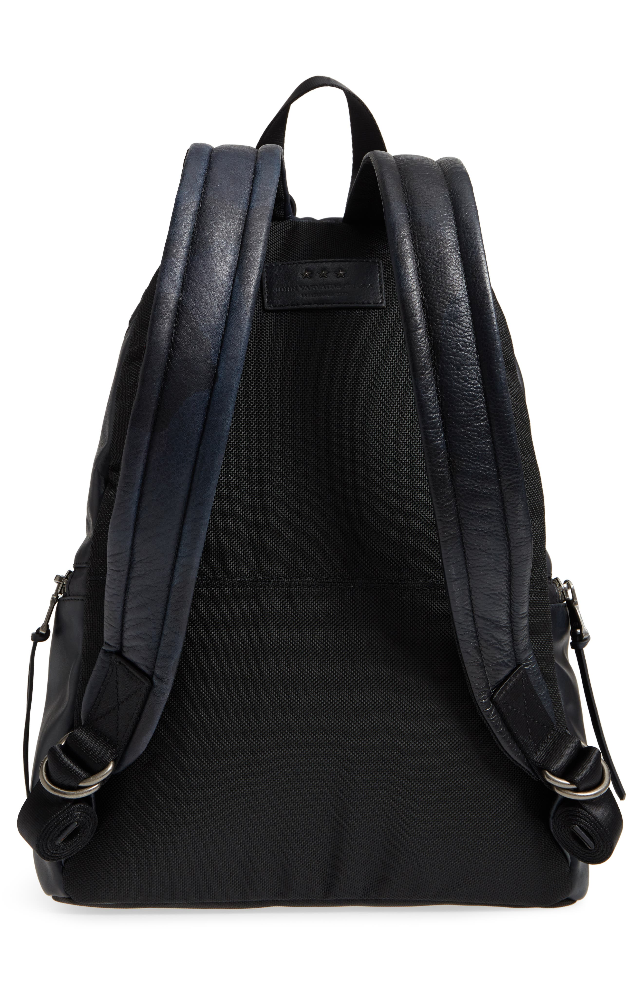 Brooklyn Suede Backpack,                             Alternate thumbnail 3, color,                             MIDNIGHT