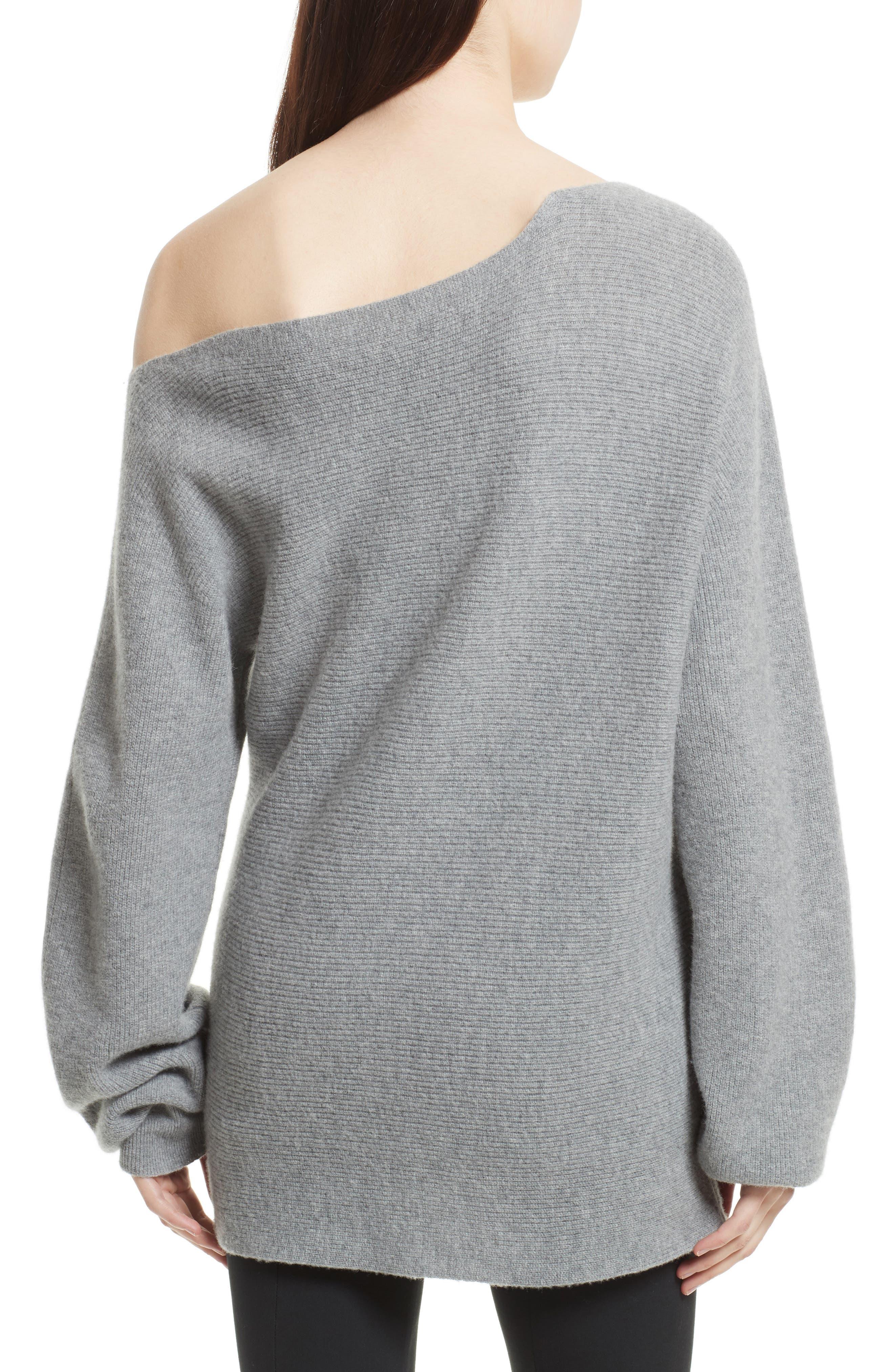 One-Shoulder Merino Wool Sweater,                             Alternate thumbnail 2, color,                             079