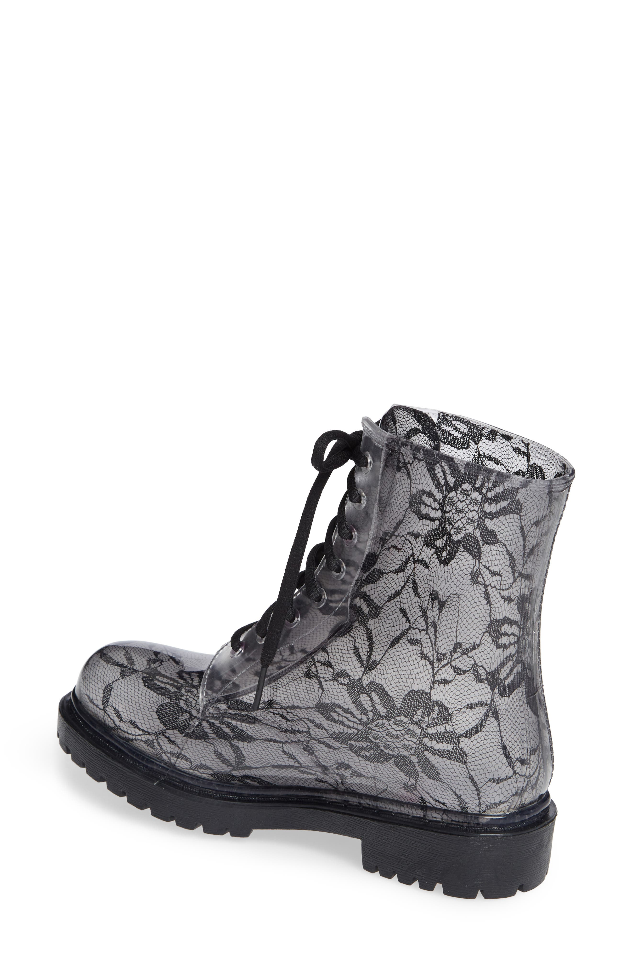 Charlie Waterproof Boot,                             Alternate thumbnail 2, color,                             BLACK LACE