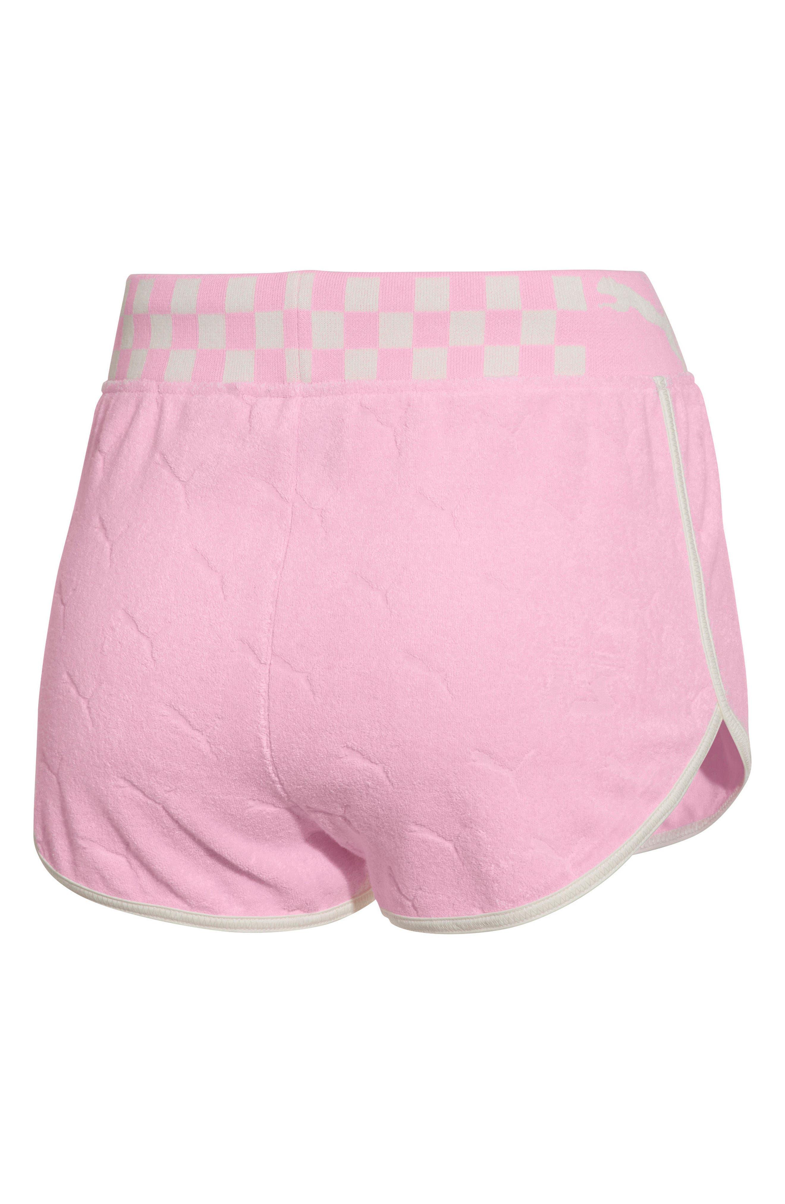 PUMA by Rihanna Terry Cloth Dolphin Shorts,                             Alternate thumbnail 2, color,