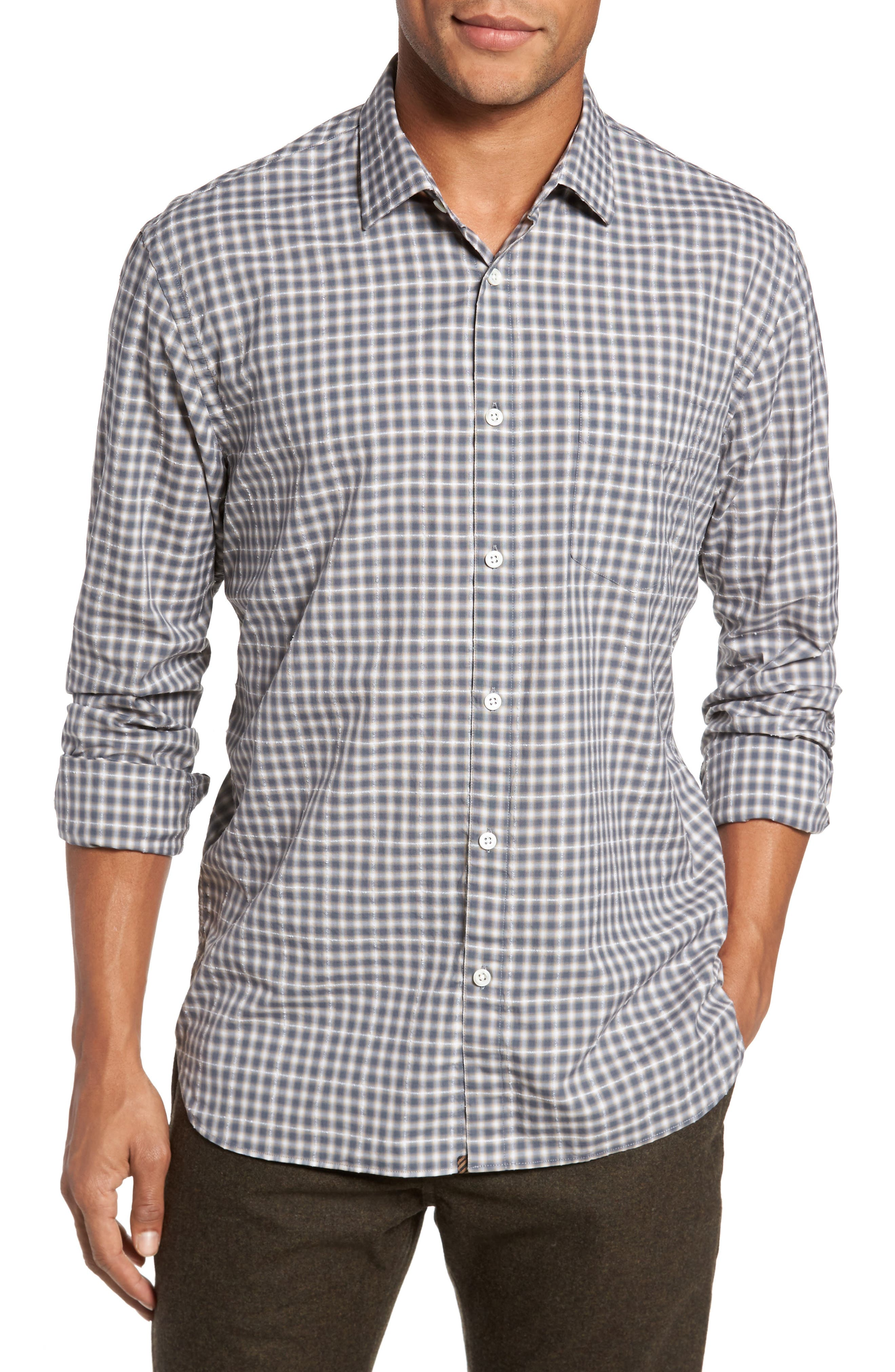 John T Print Slim Fit Sport Shirt,                         Main,                         color, 090