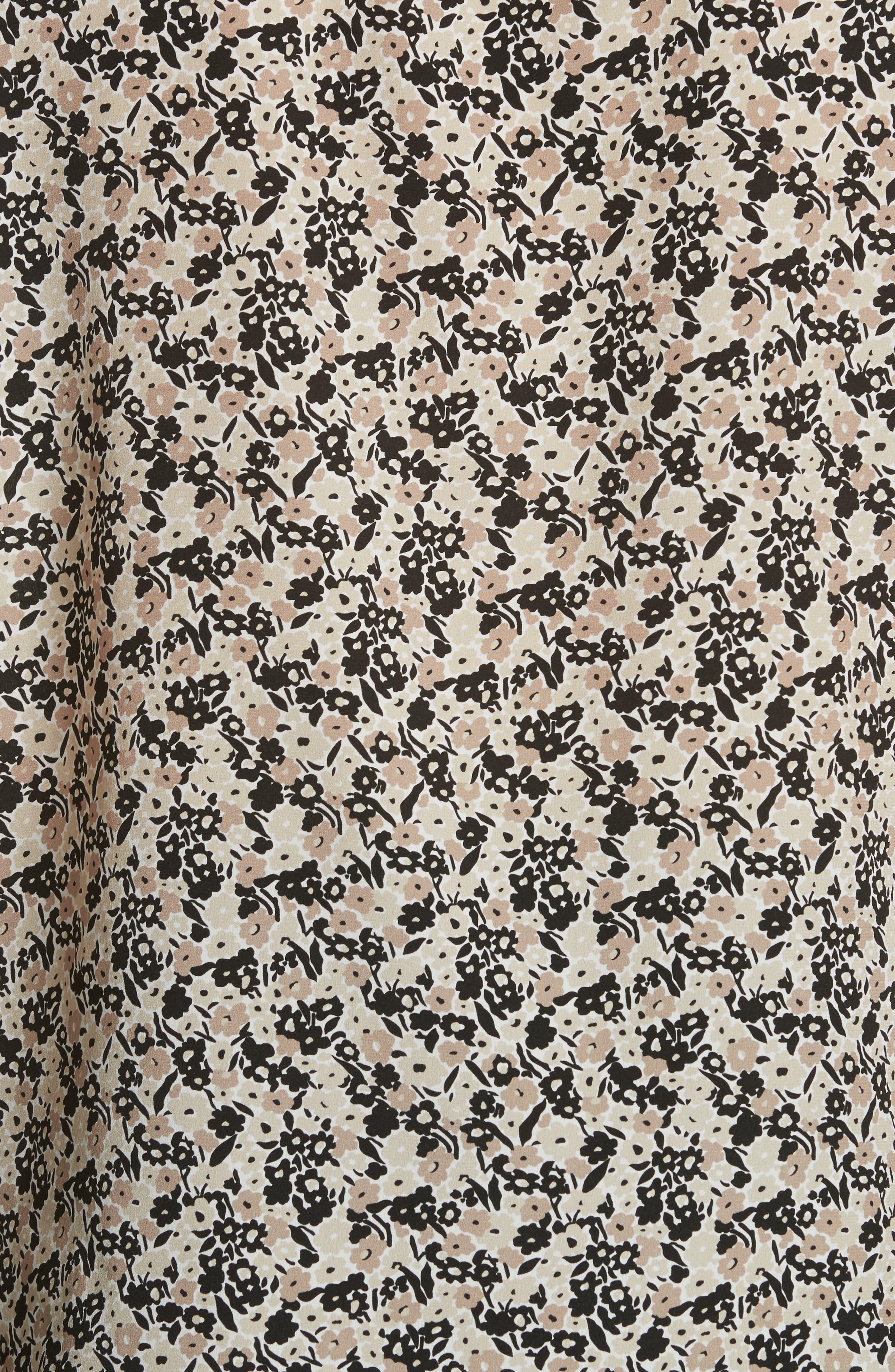 Louvre Print Silk Top,                             Alternate thumbnail 5, color,                             256