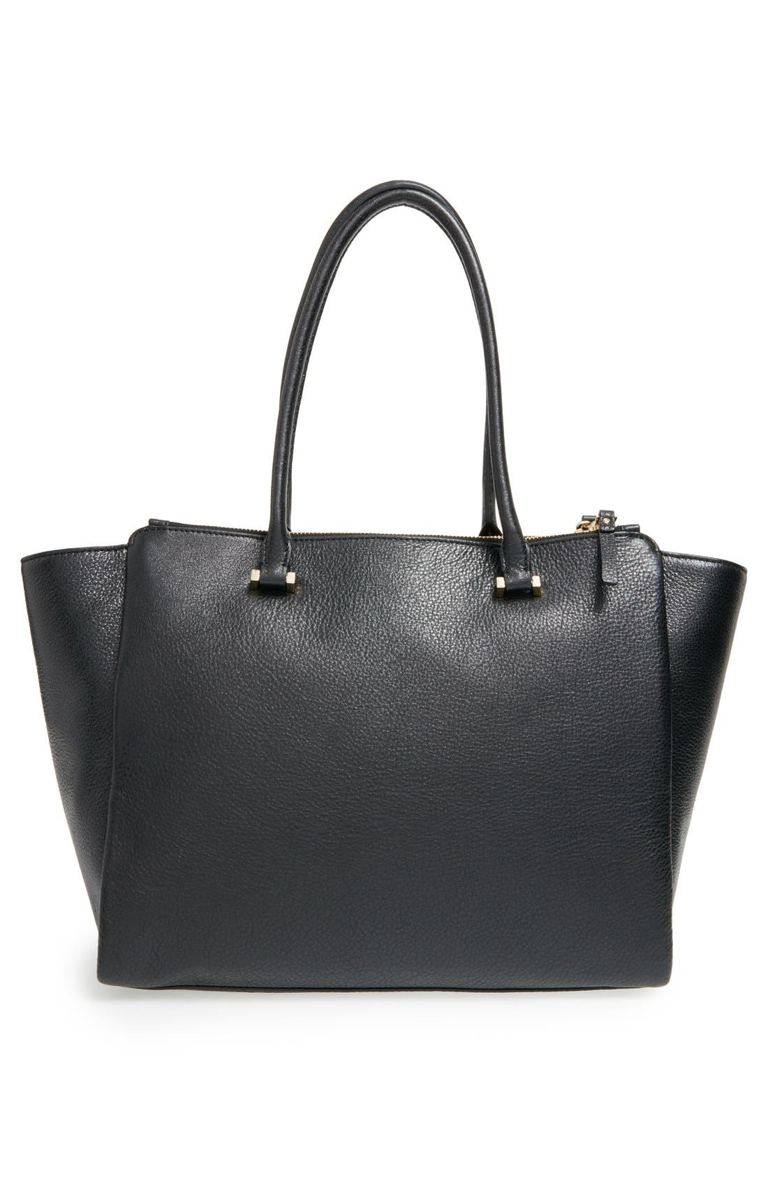 'emerson place - smooth holland' leather tote,                             Alternate thumbnail 6, color,                             001