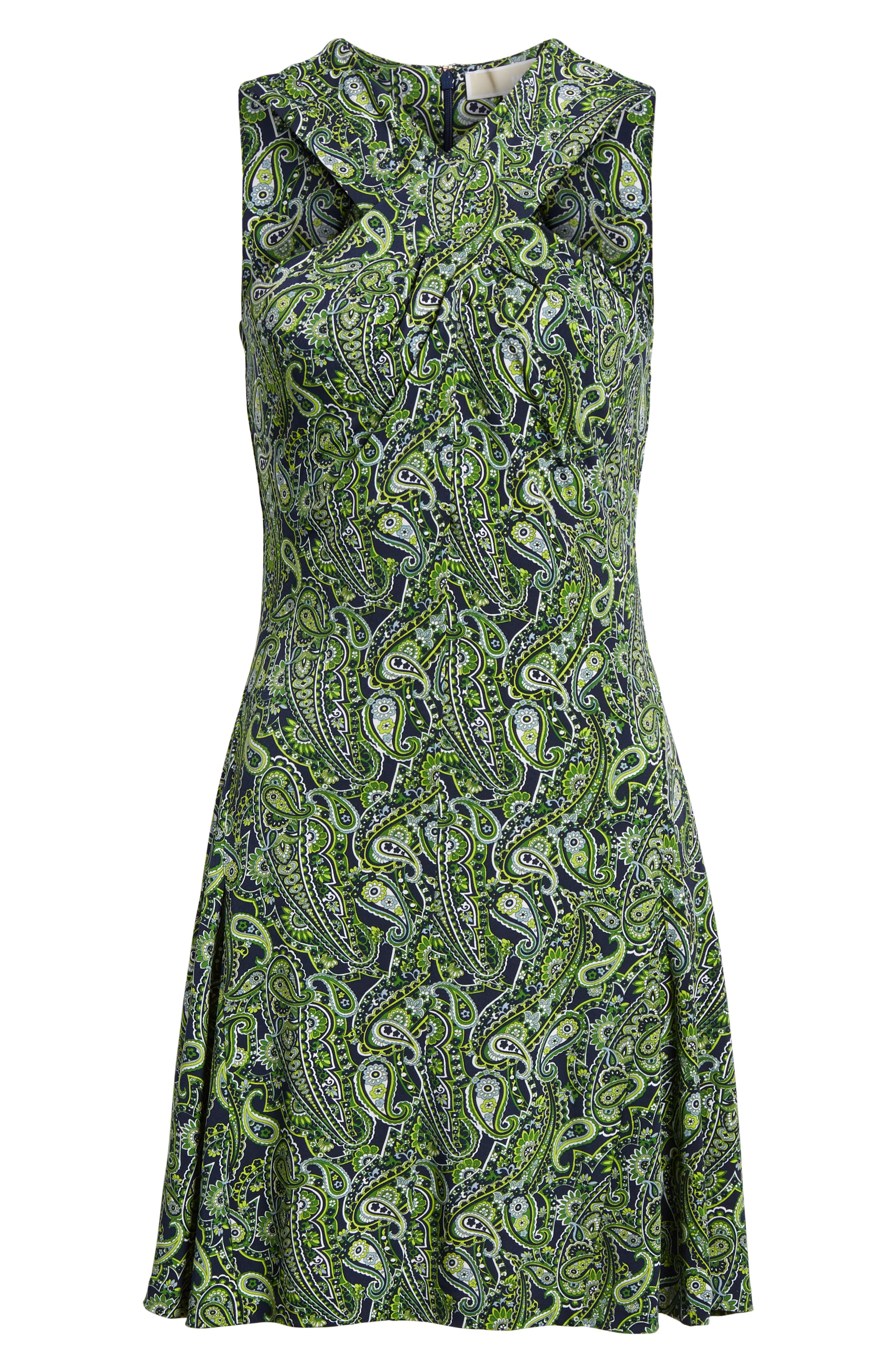 Paisley Paradise Fit & Flare Dress,                             Alternate thumbnail 6, color,                             362