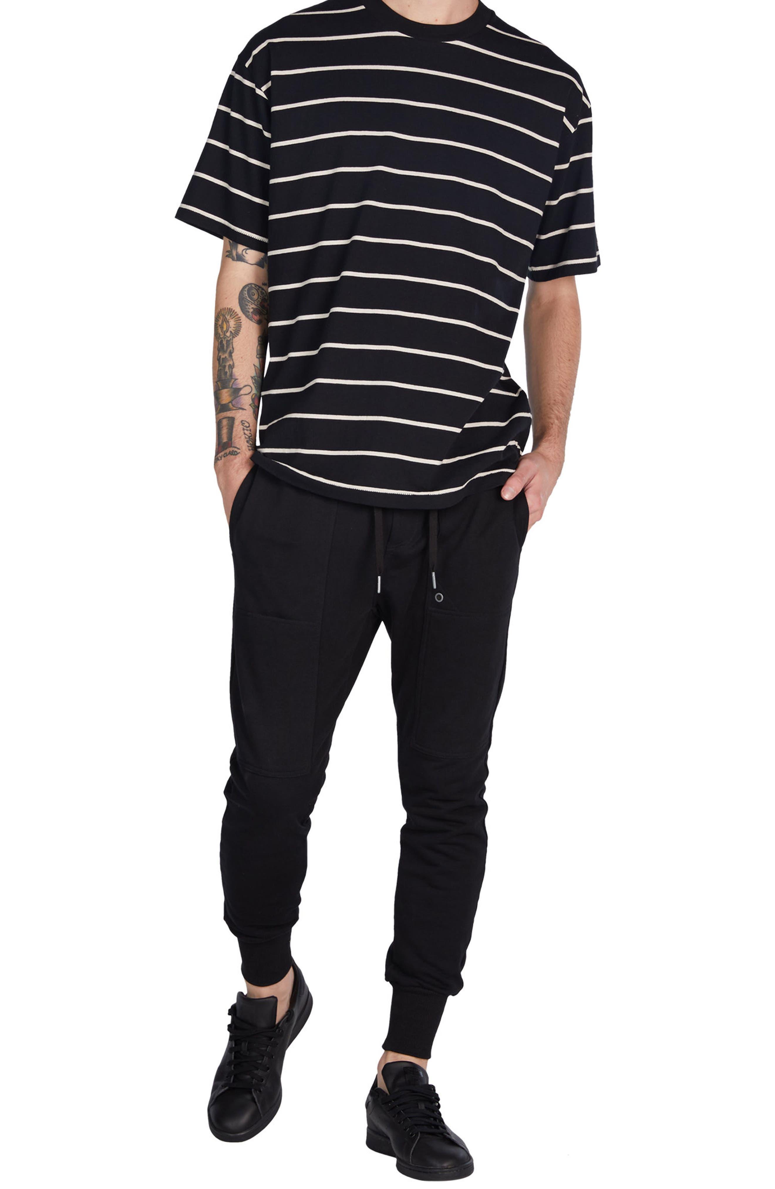 Box Stripes T-Shirt,                             Alternate thumbnail 5, color,                             001