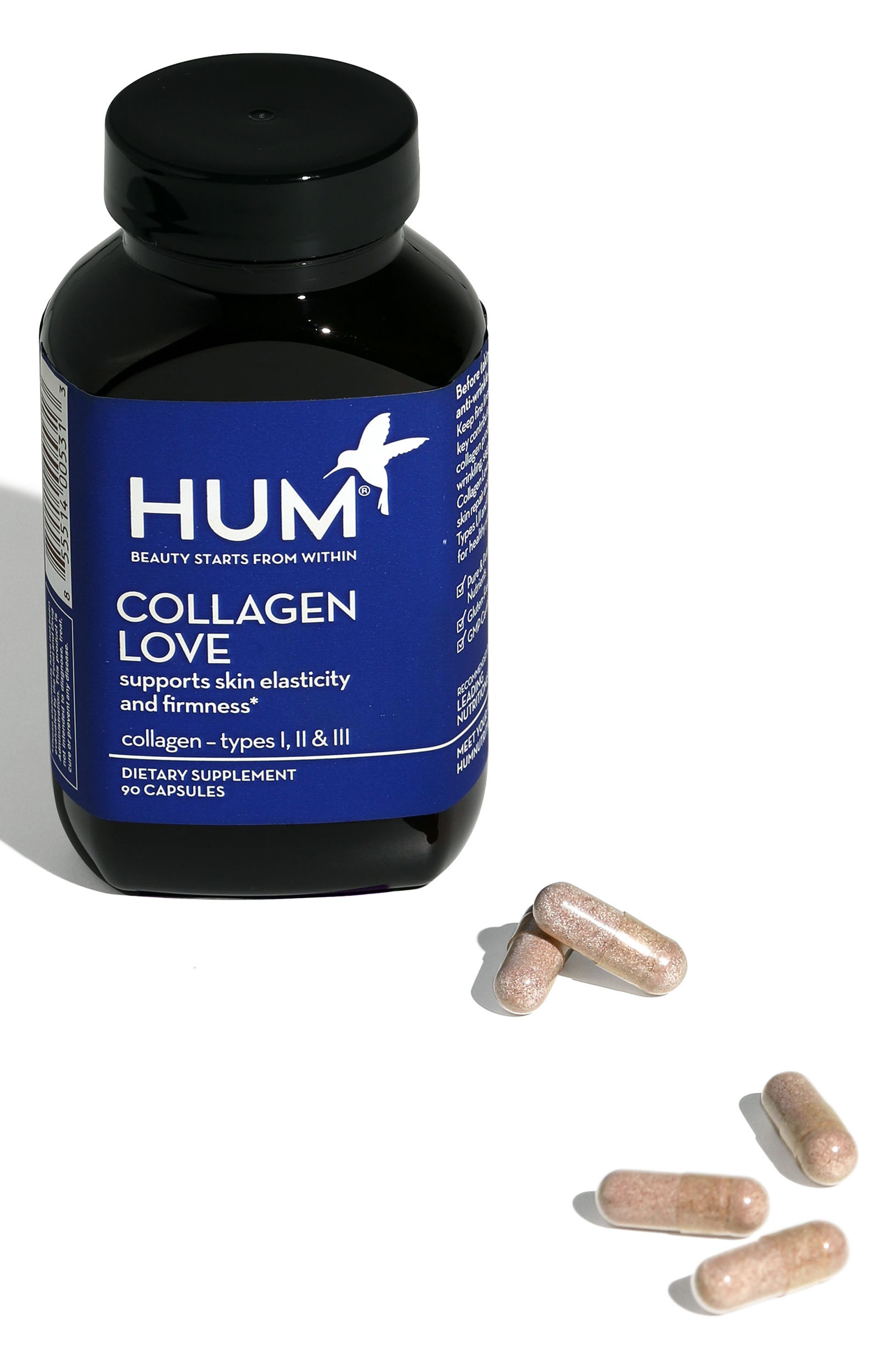 HUM NUTRITION,                             Collagen Love Skin Firming Supplement,                             Alternate thumbnail 4, color,                             NO COLOR