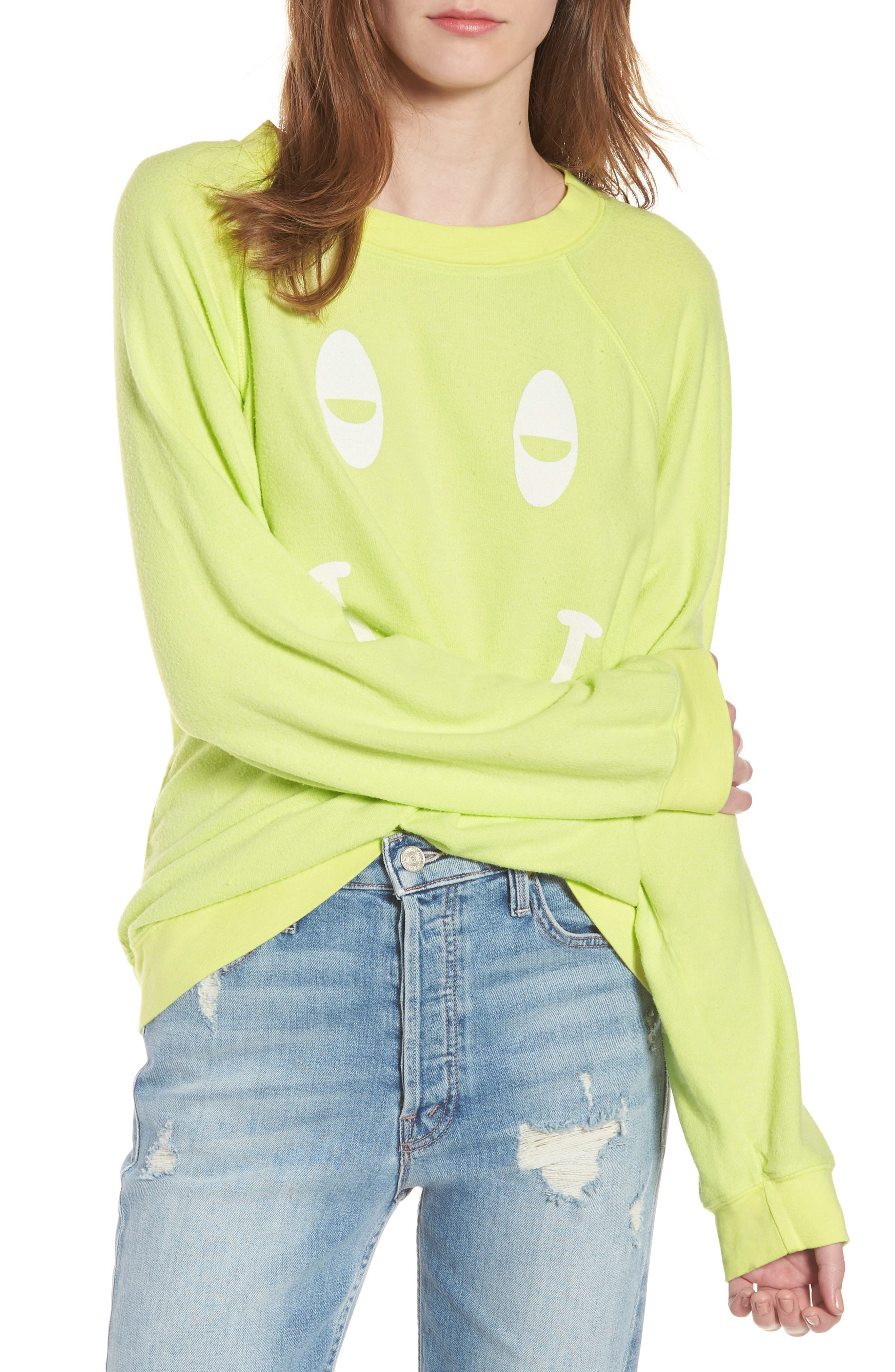 Sleepy Smiley Sommers Sweatshirt,                             Main thumbnail 1, color,
