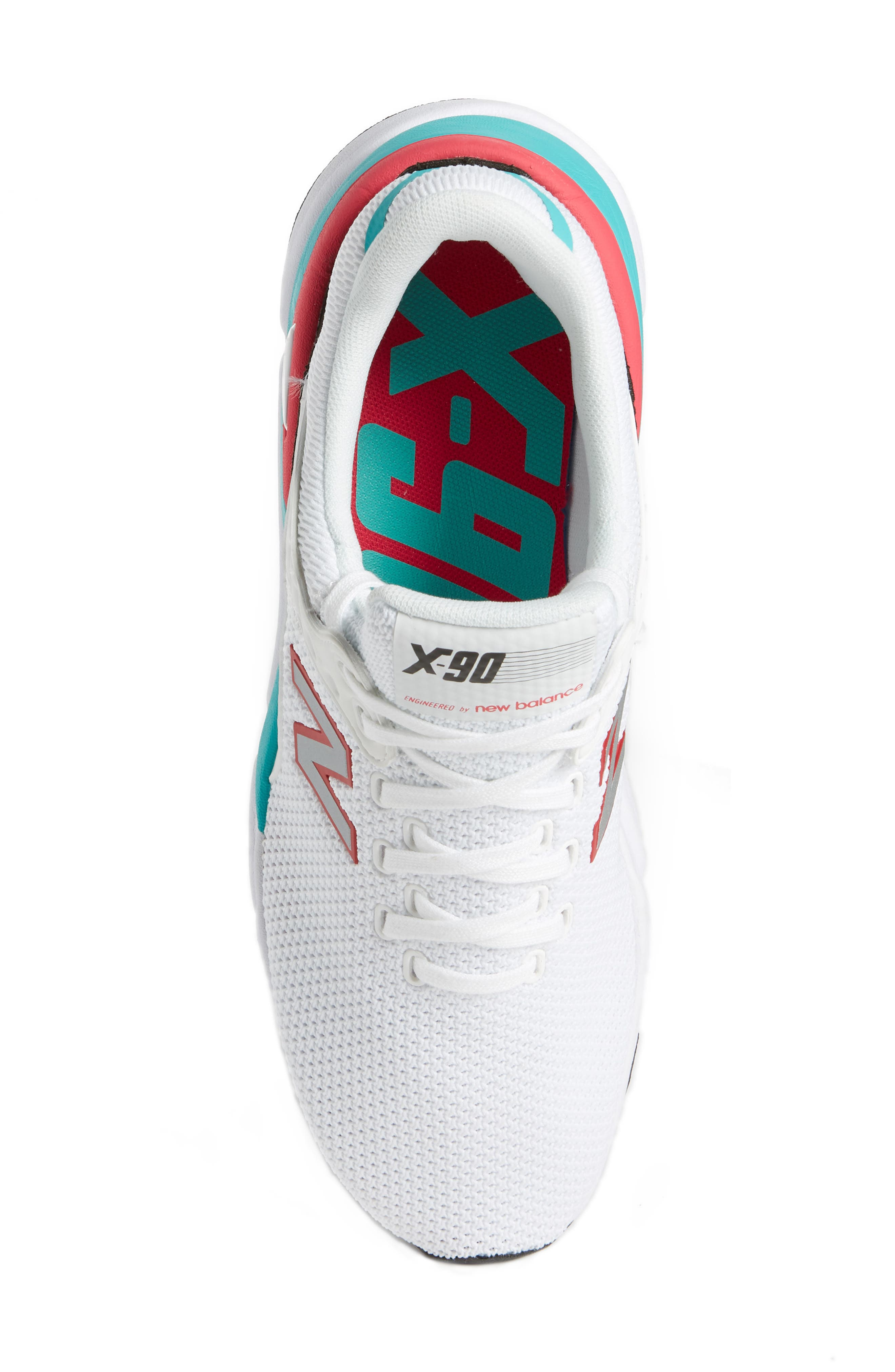 X-90 Knit Sneaker,                             Alternate thumbnail 5, color,                             WHITE