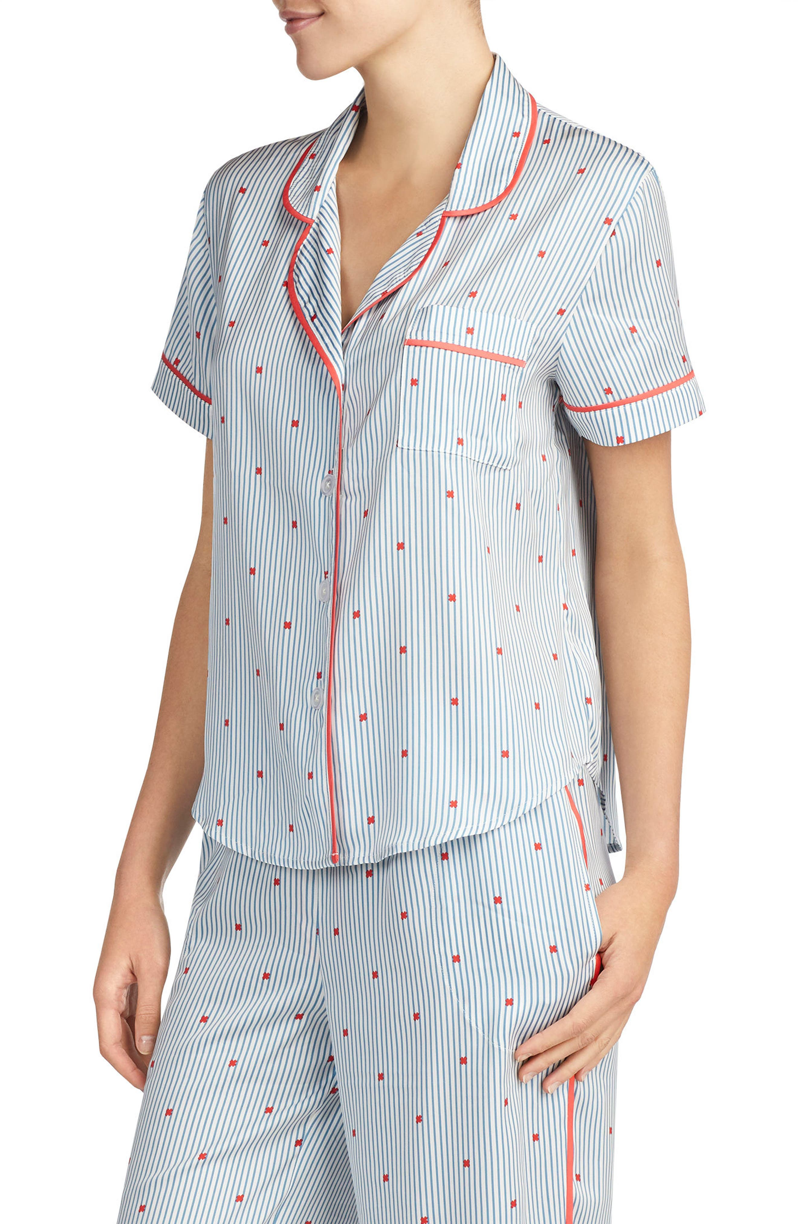 Satin Pajama Top,                             Main thumbnail 3, color,