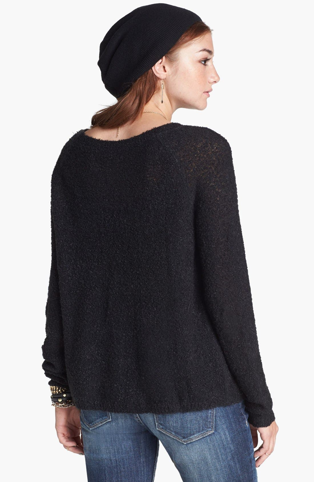 'Grunge' Textured Sweater,                             Alternate thumbnail 2, color,                             001