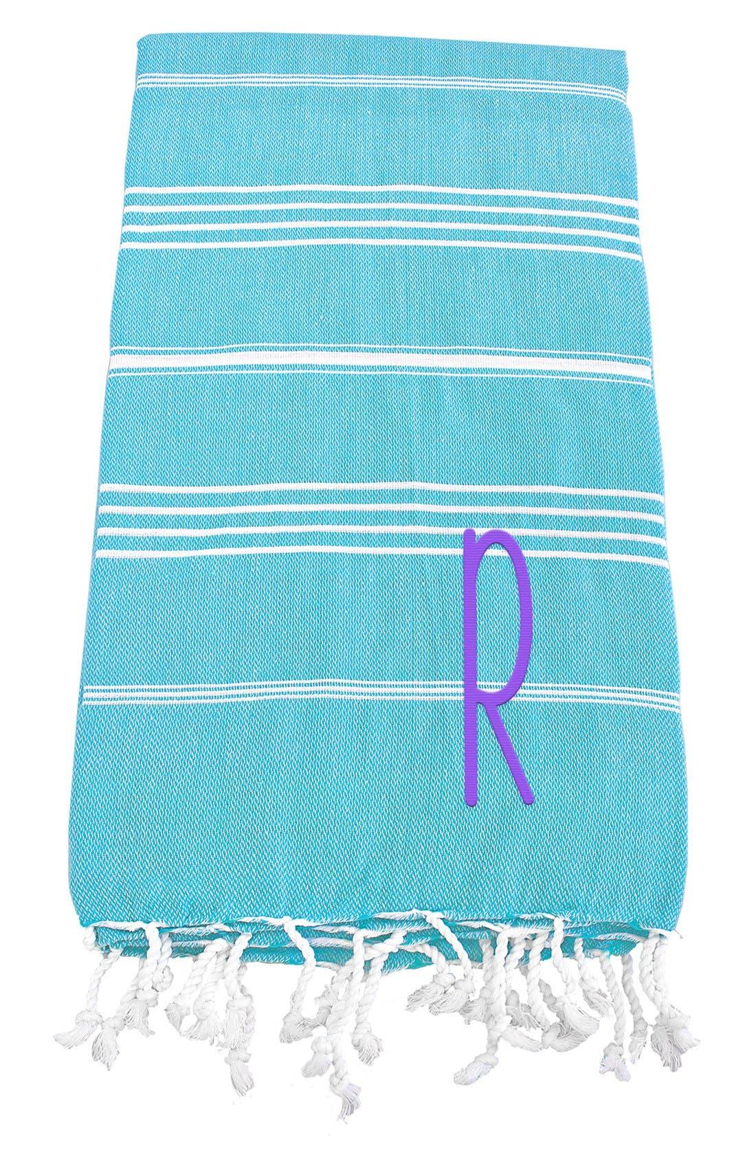 Monogram Turkish Cotton Towel,                             Main thumbnail 100, color,