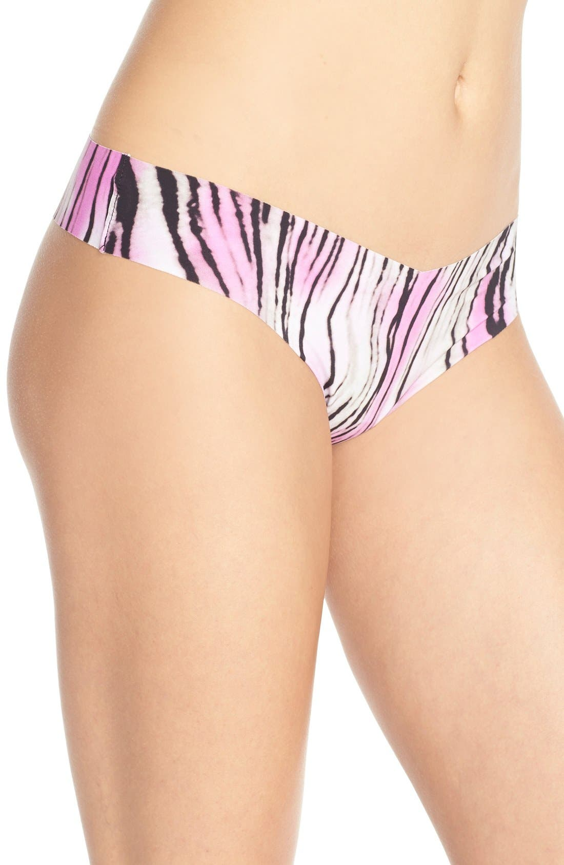 Print Microfiber Thong,                             Alternate thumbnail 318, color,