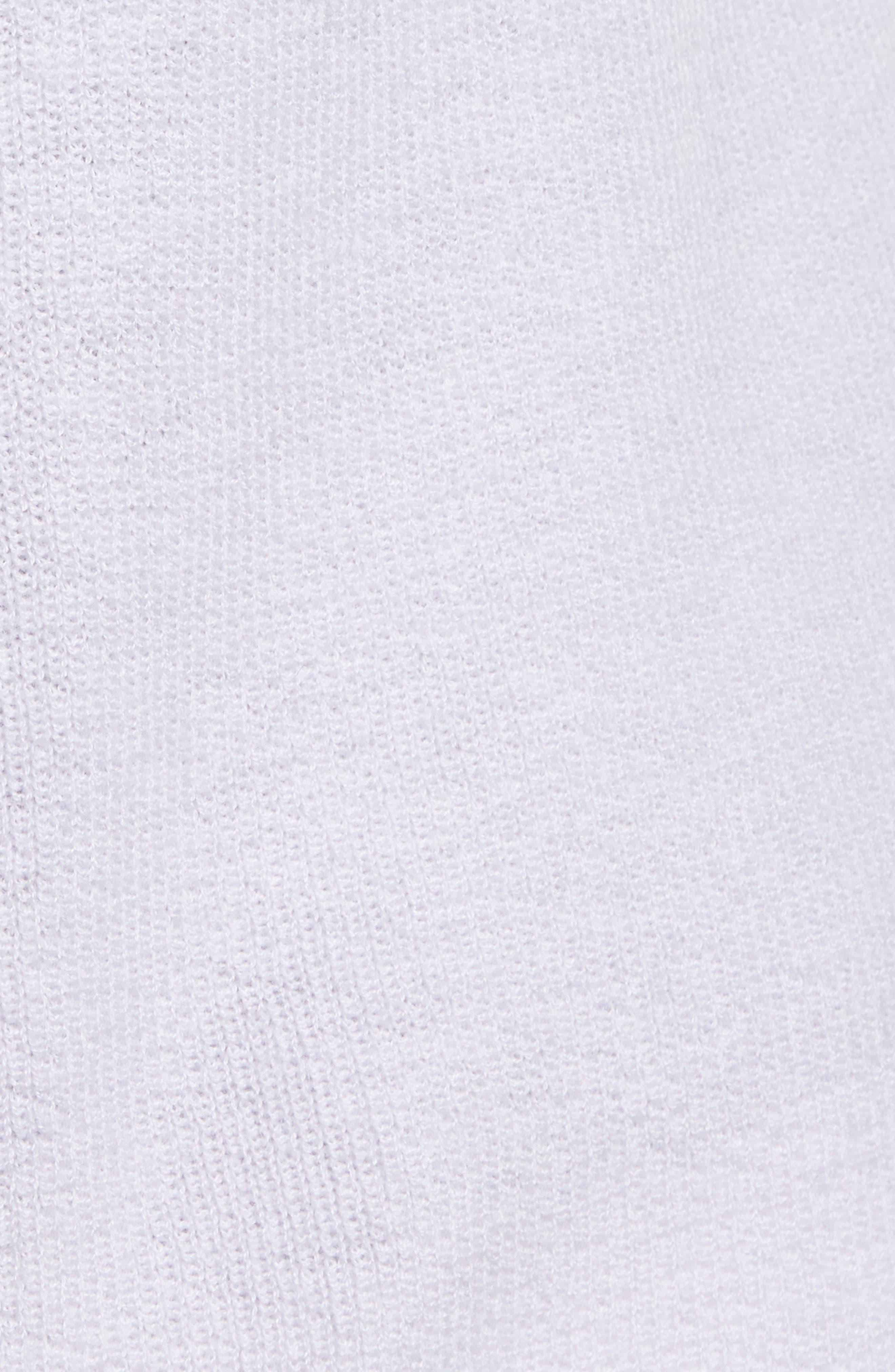 Blouson Sleeve Cashmere Cardigan,                             Alternate thumbnail 6, color,                             PURPLE EVENING