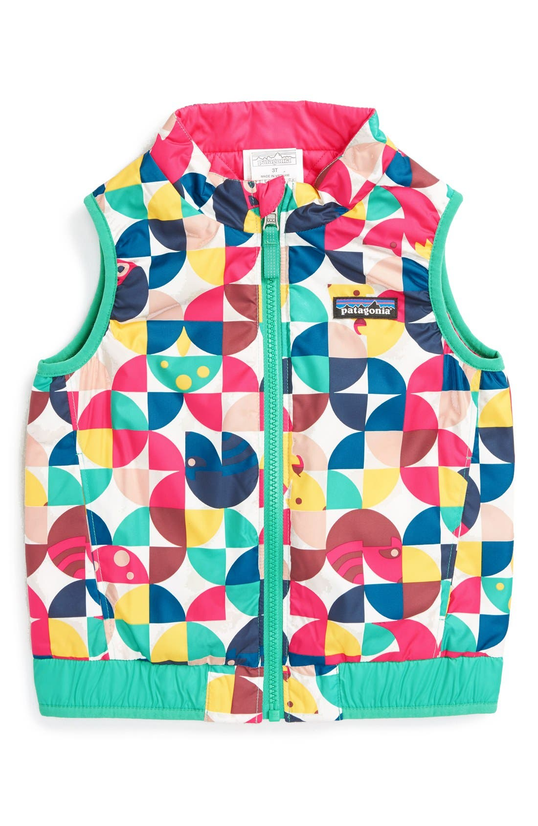 'Puff-Ball' Water Resistant Reversible Vest,                             Main thumbnail 5, color,