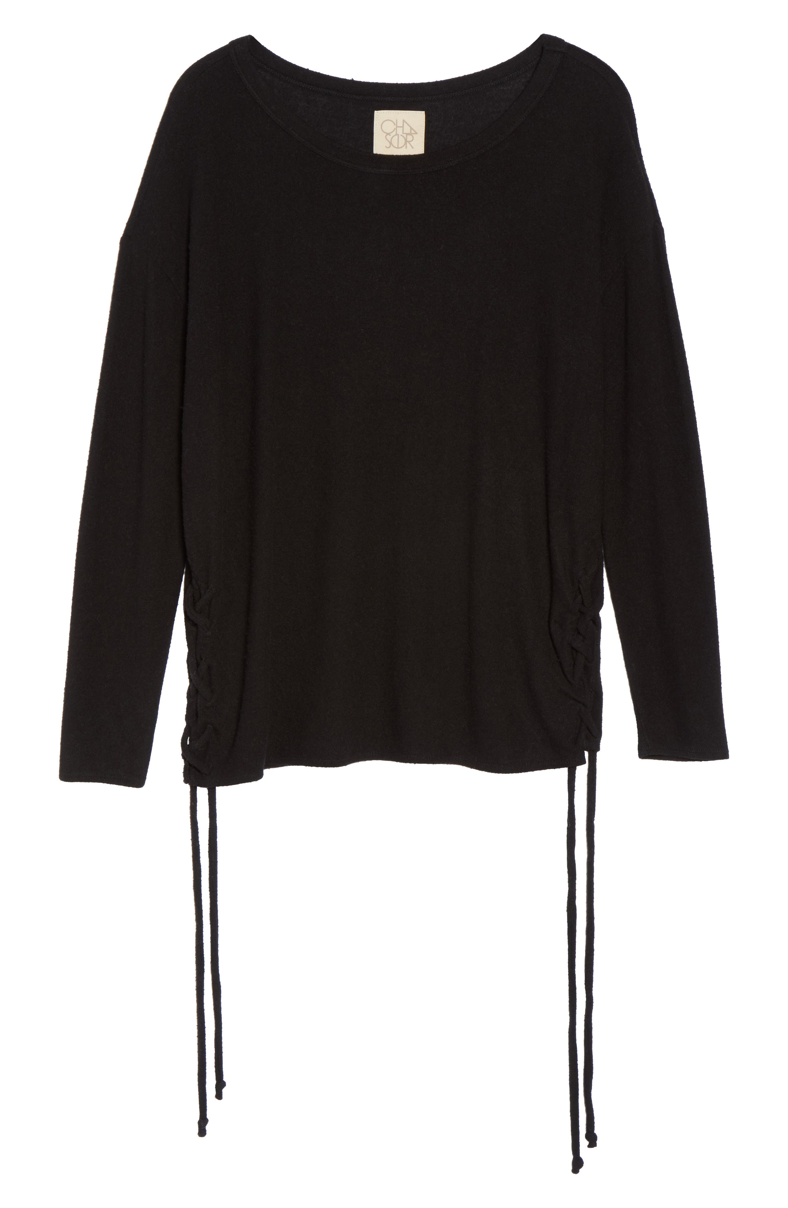 Lace-Up Side Pullover,                             Alternate thumbnail 6, color,                             003