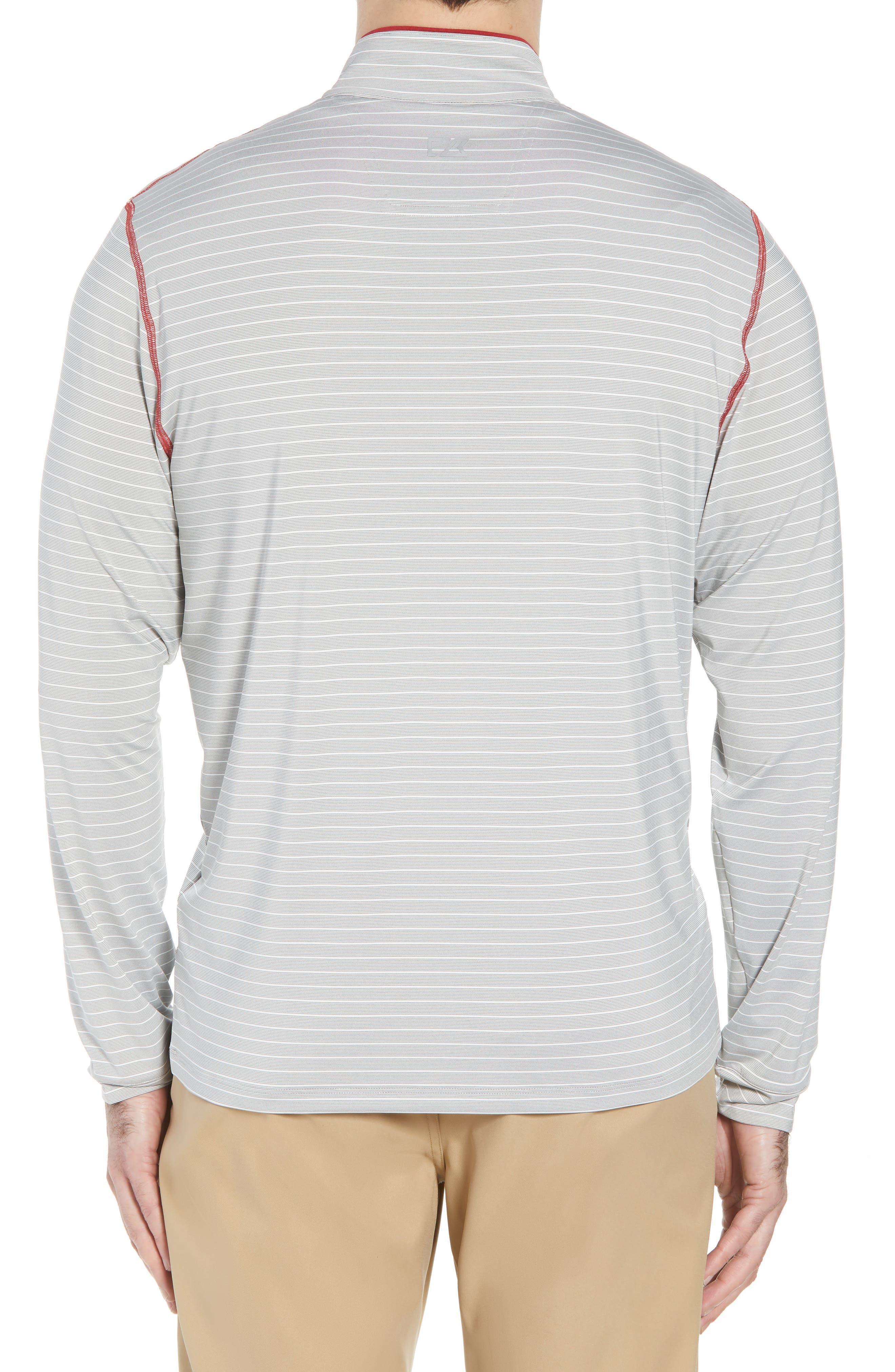 Meridian - San Francisco 49ers Regular Fit Half Zip Pullover,                             Alternate thumbnail 2, color,                             RED