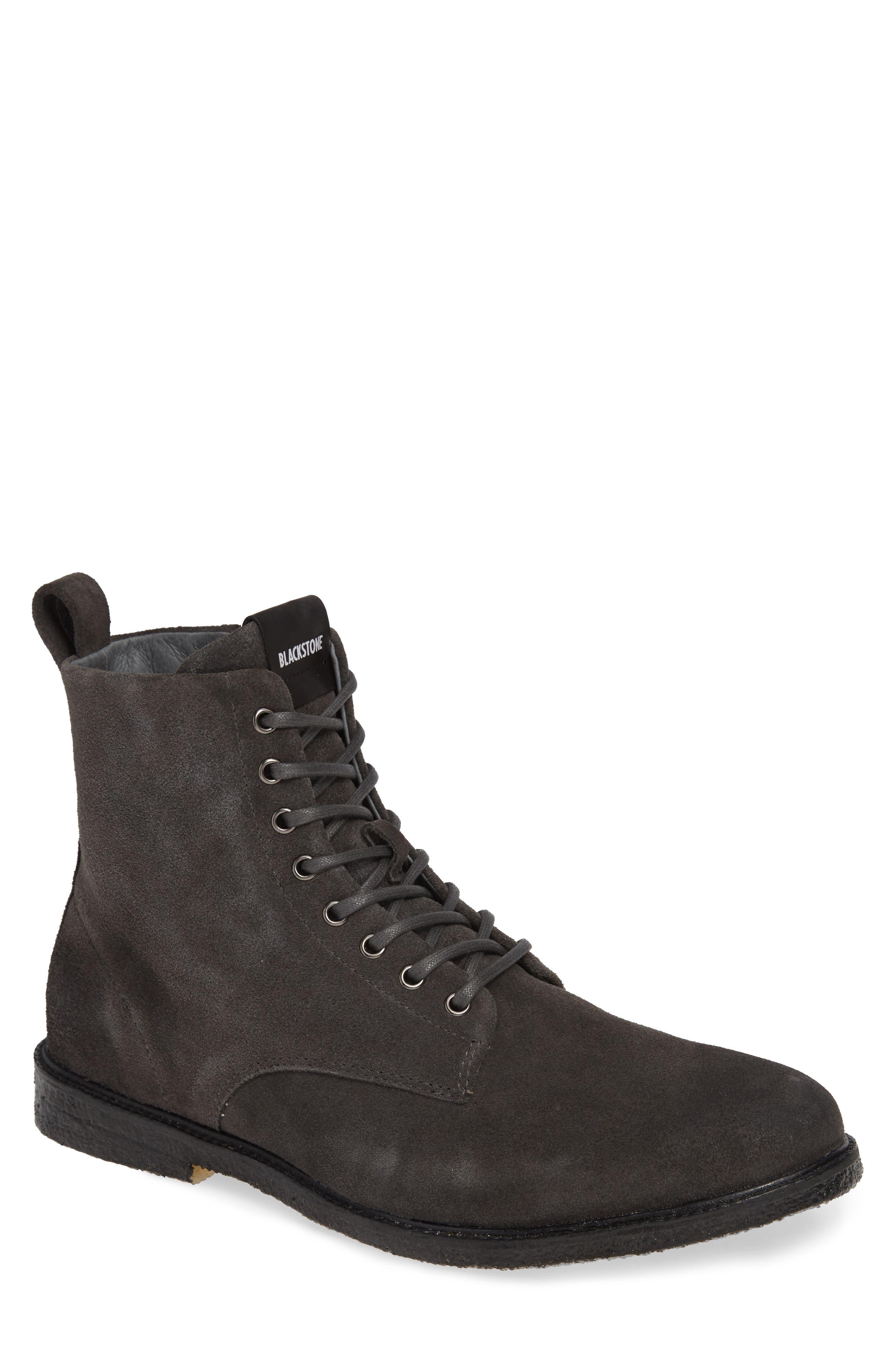 Blackstone Qm23 Plain Toe Boot, Blue