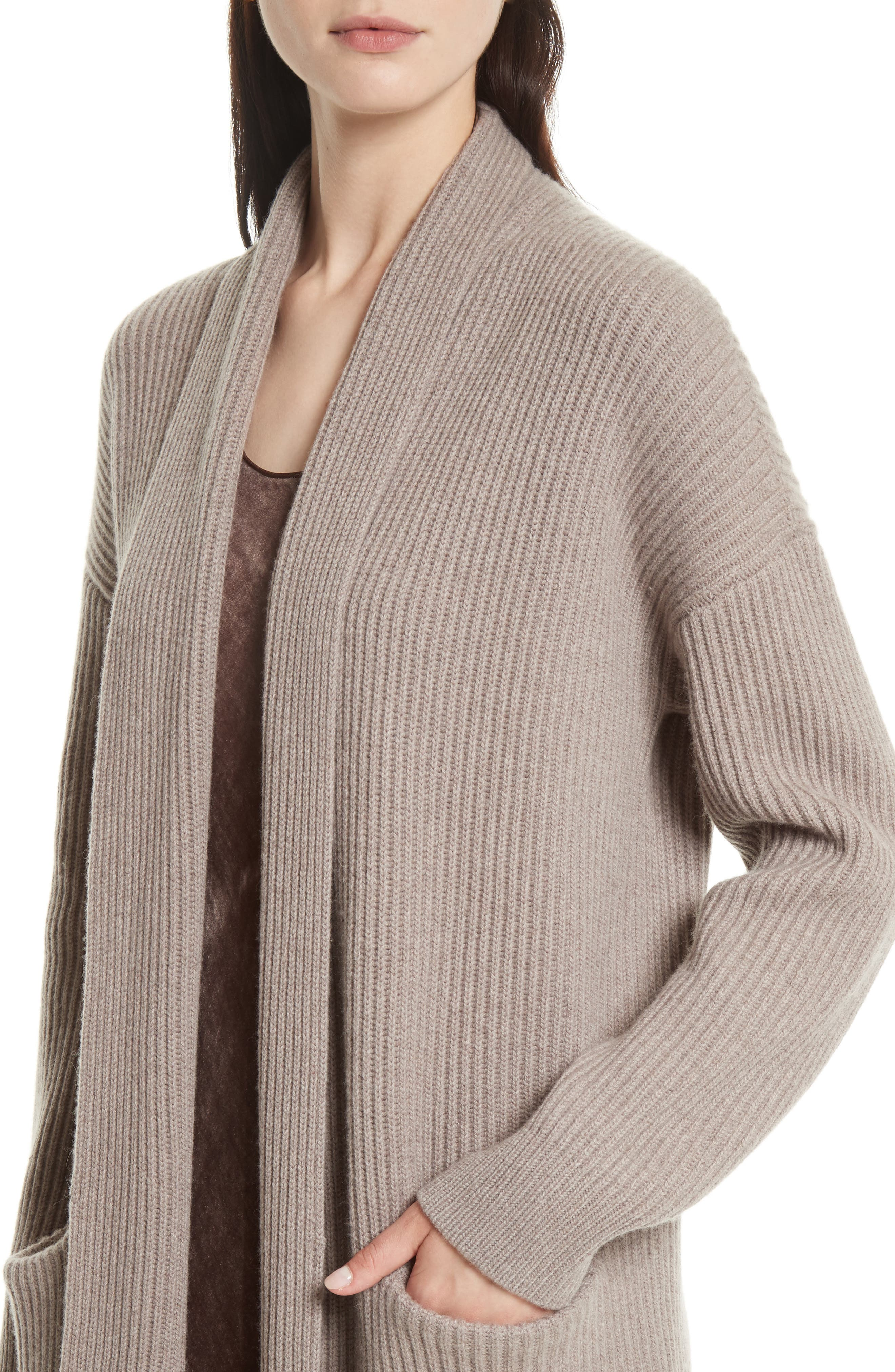 VINCE,                             Long Knit Sweater Robe,                             Alternate thumbnail 4, color,                             260
