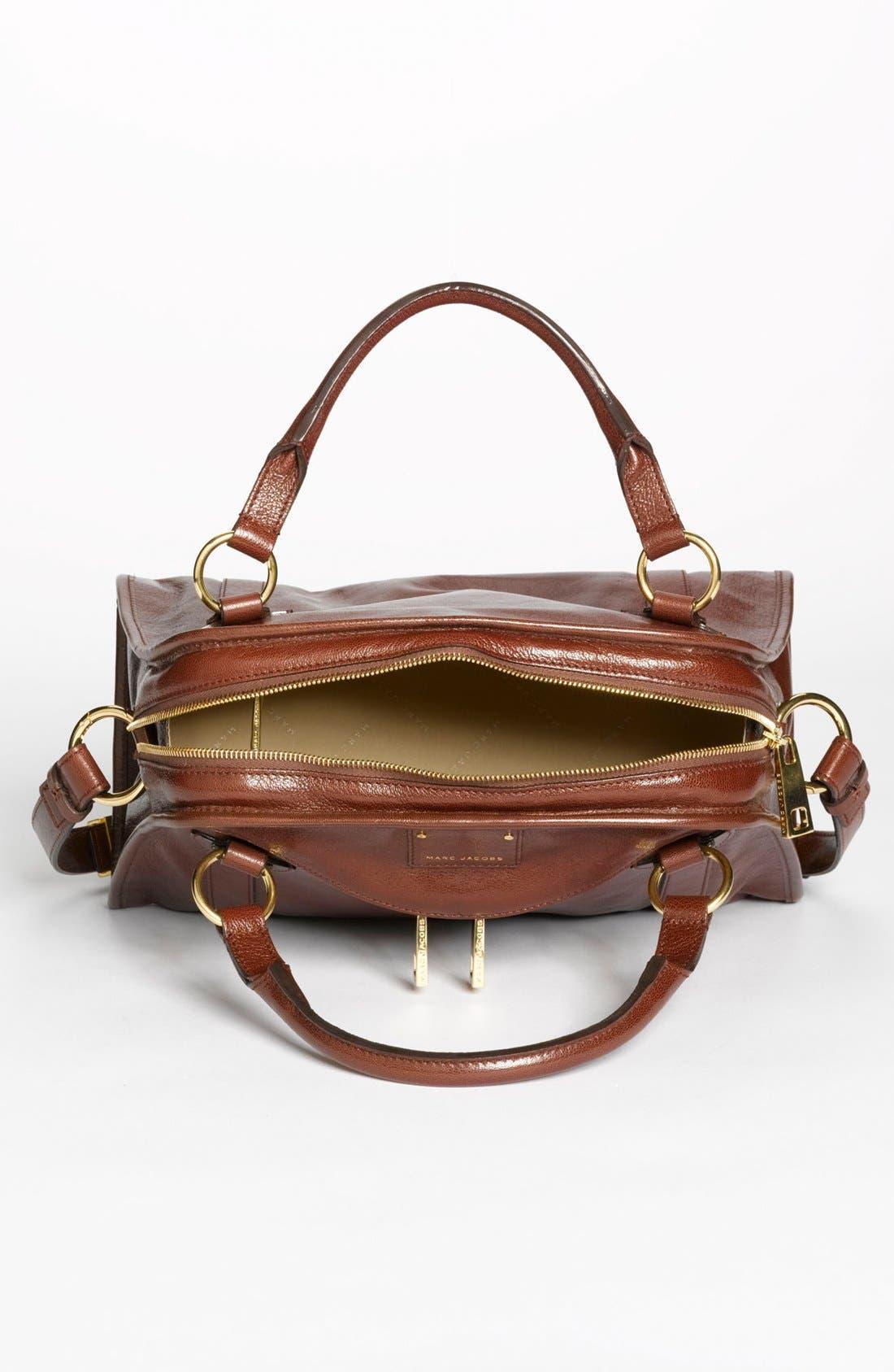 'Classic Wellington' Leather Satchel,                             Alternate thumbnail 38, color,