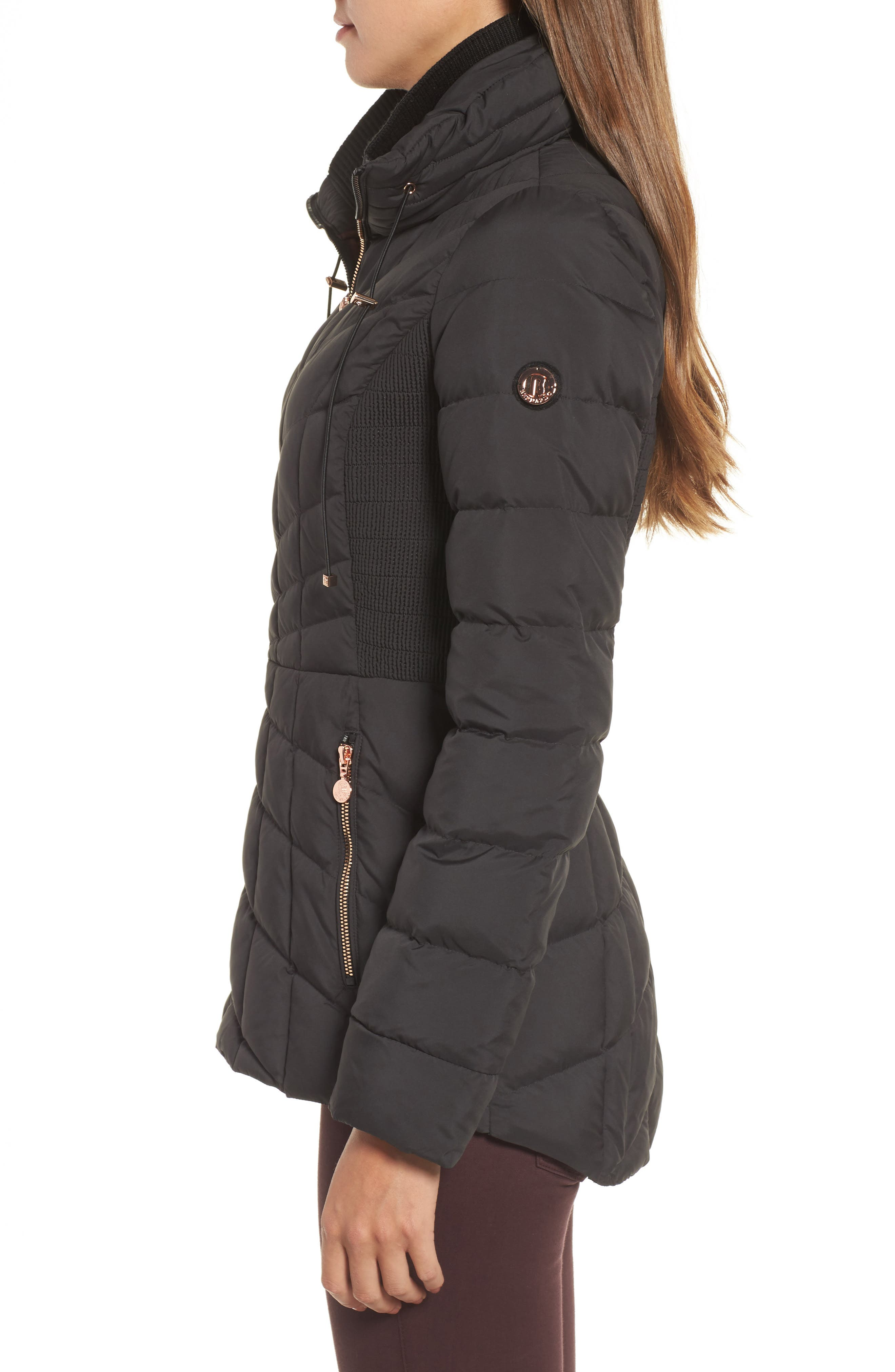 Packable Down & PrimaLoft<sup>®</sup> Coat,                             Alternate thumbnail 3, color,                             010