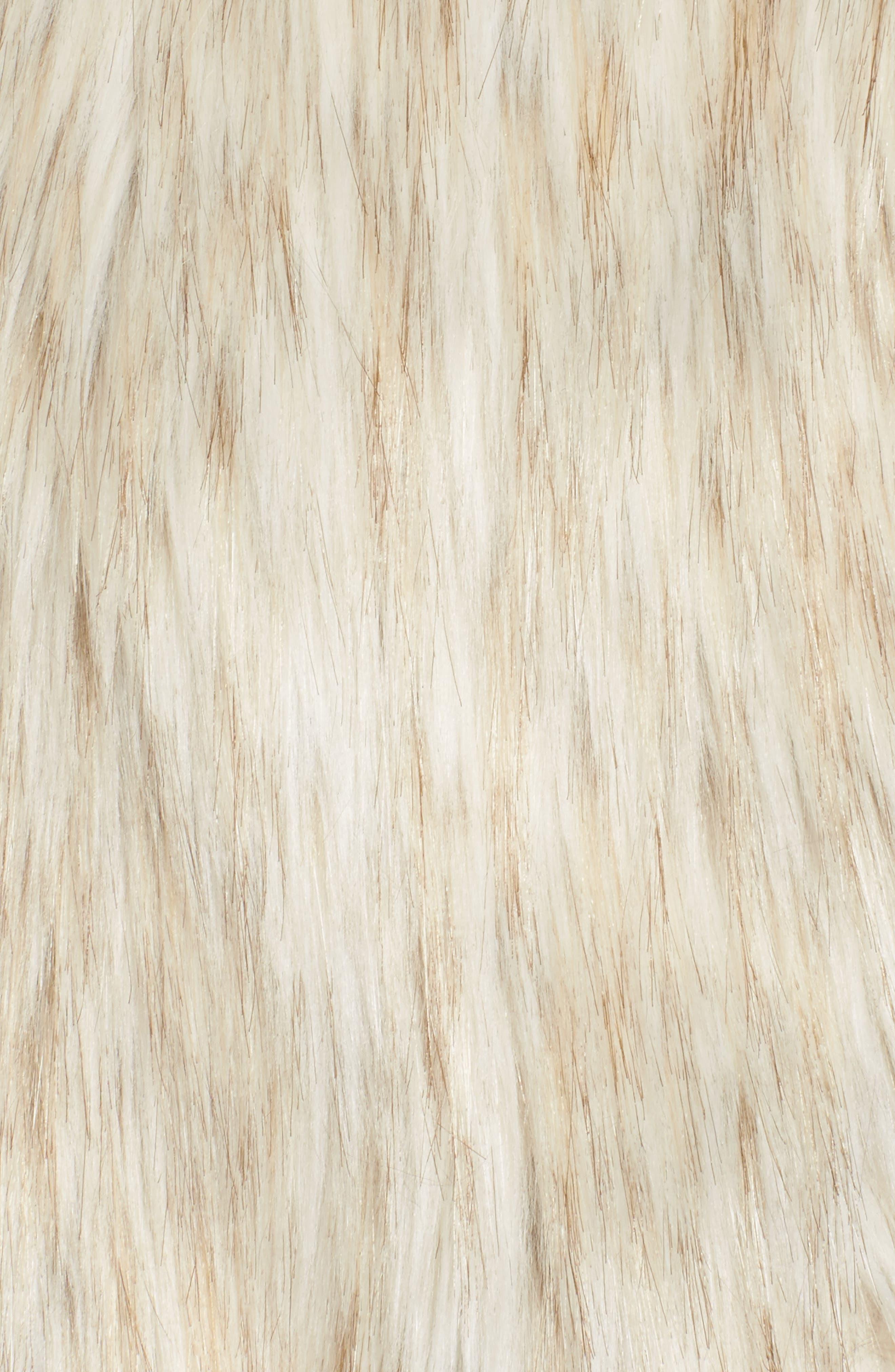 Collared Faux Fur Vest,                             Alternate thumbnail 6, color,                             161